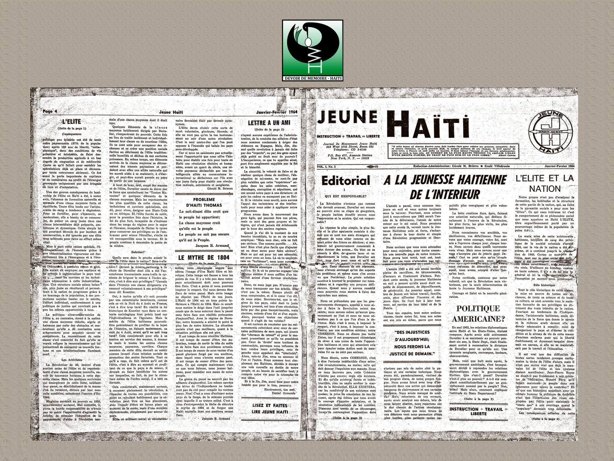 Copie de la publication de Jeune Haïti.