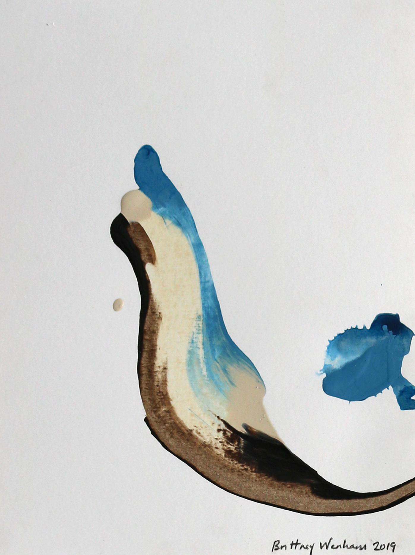 "GOLDEN THREAD BREATH #3  11.7"" x 8.3"", Acrylic paint on paper, 2019"