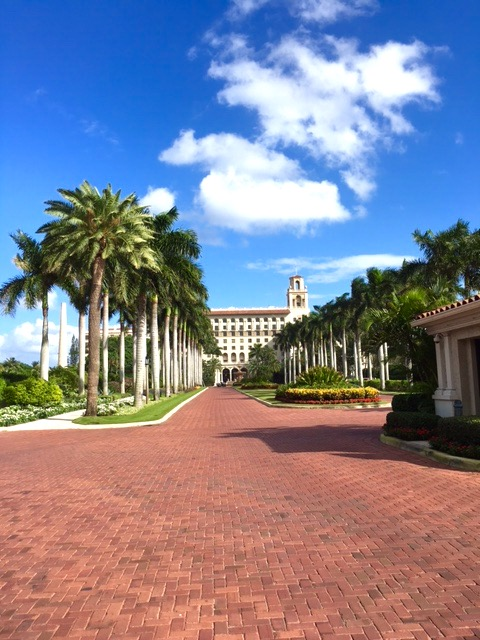 Bronwen stays at The Breakers in Palm Beach, FL.