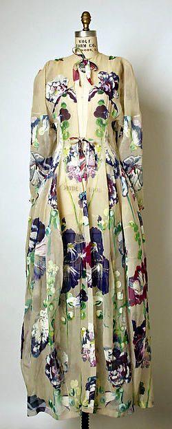 1937 Balenciaga, Tea Gown