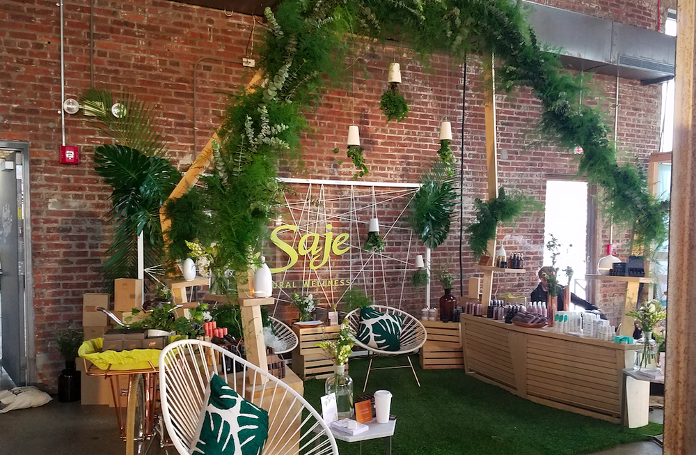 Saje Natural Wellness Create + Cultivate Installation