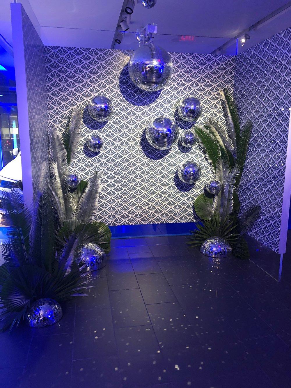 Disco Ball Installation- B Floral