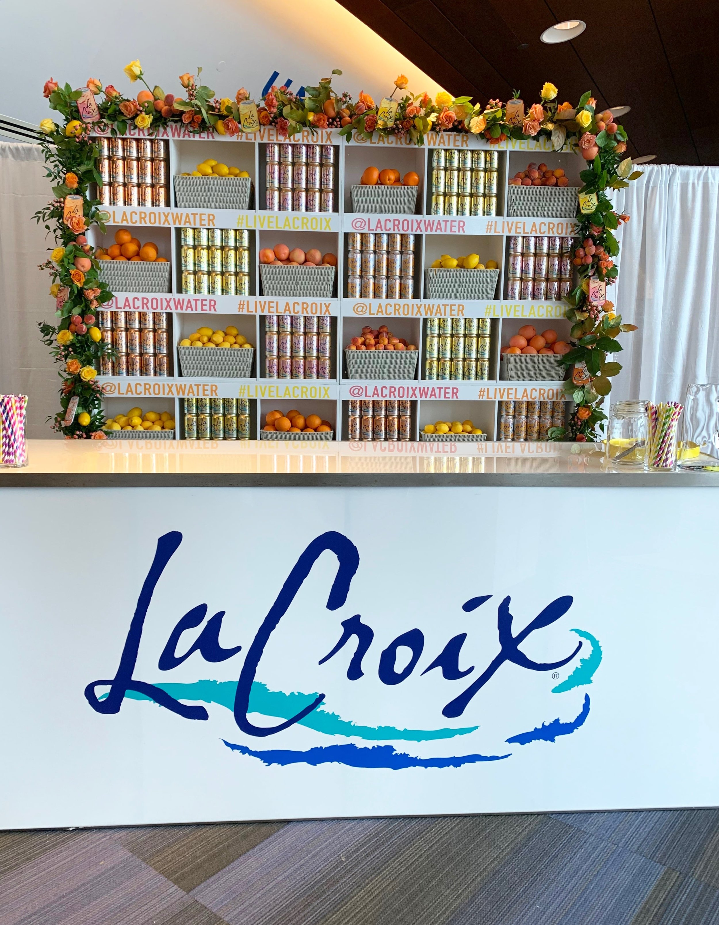 LaCroix Branded Back Bar Install- B Floral