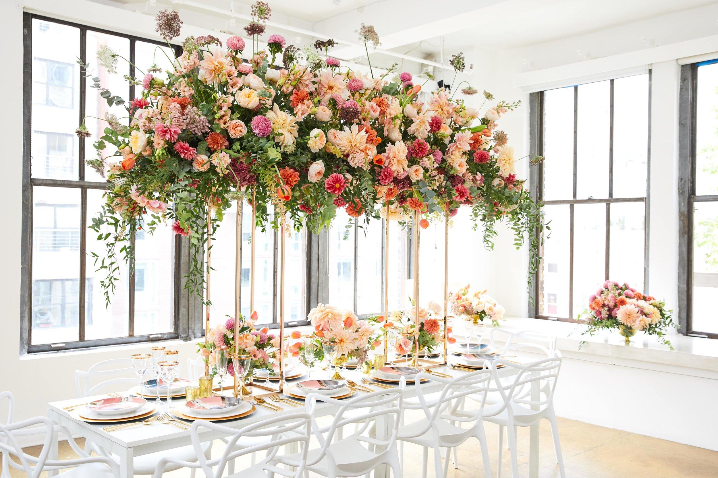 Floral Canopy Tablescape- B Floral