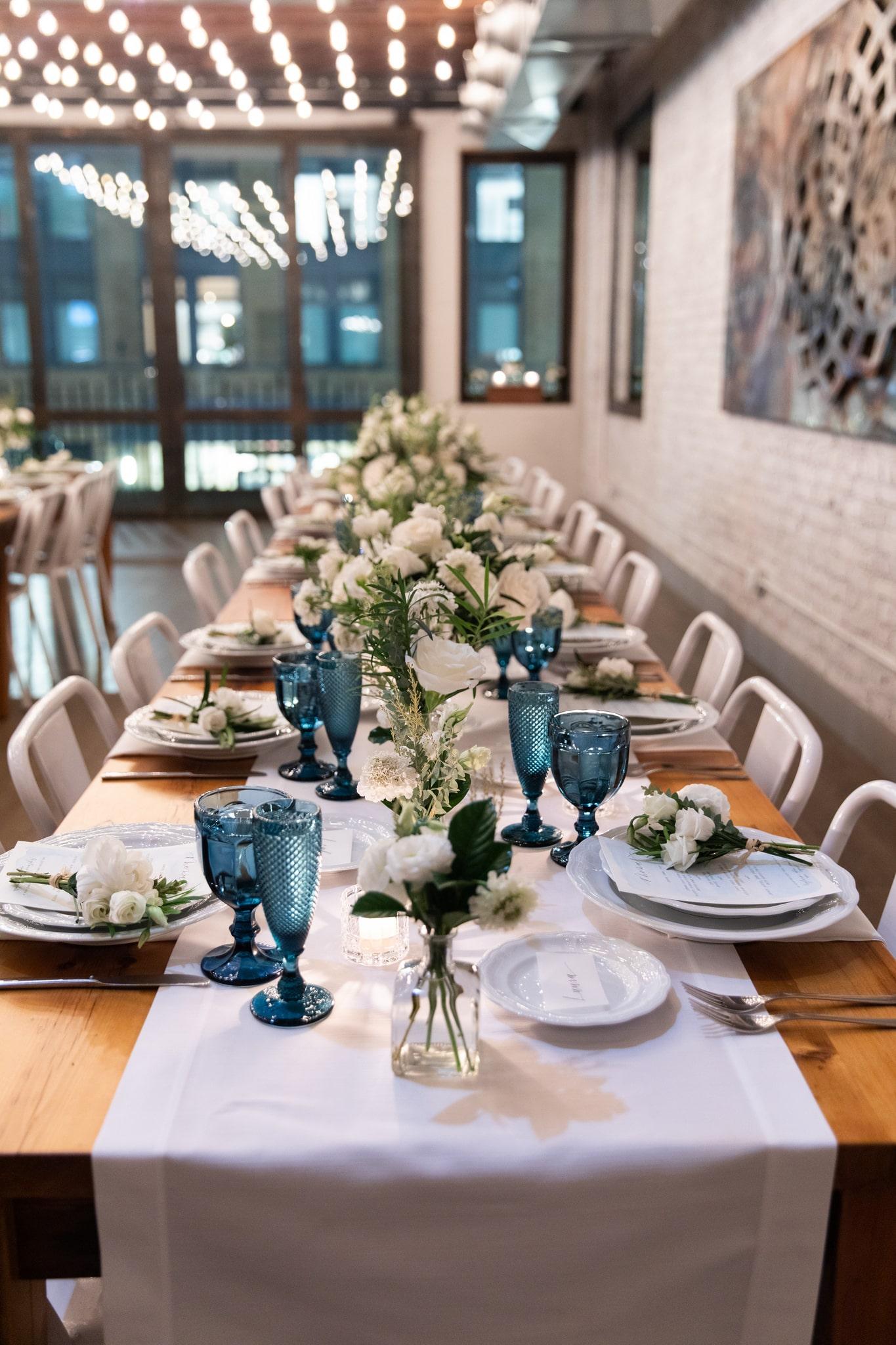 Clean and Simplistic Tablescape- B Floral