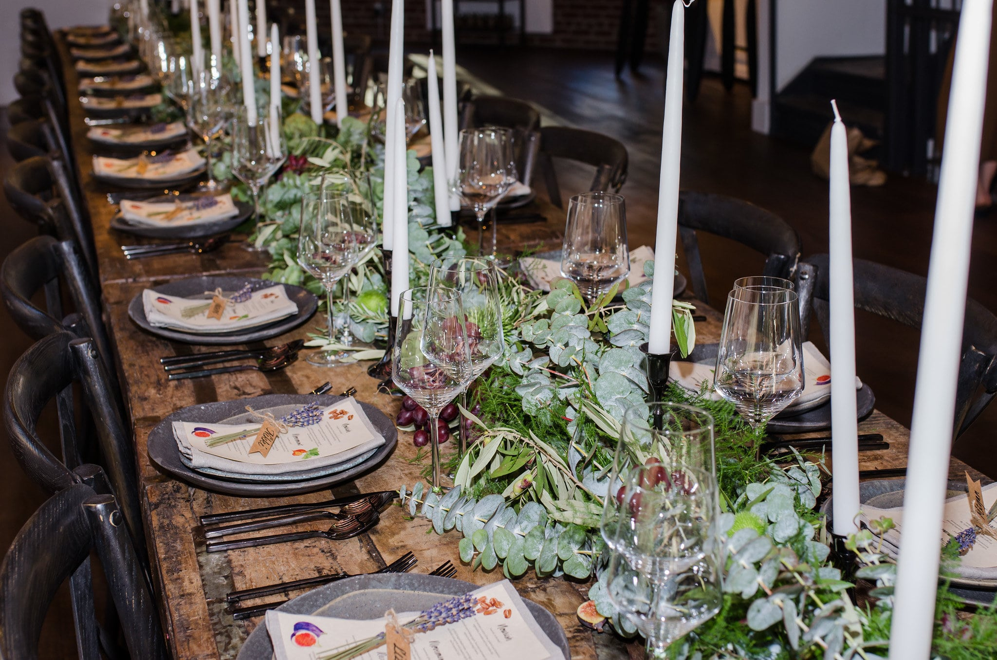 Greenery and Fruit Table Runner- B Floral