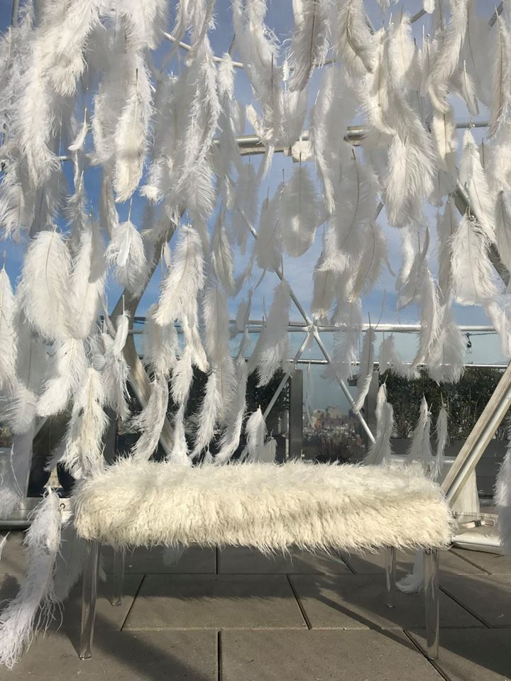Hanging Feather Installation- B Floral