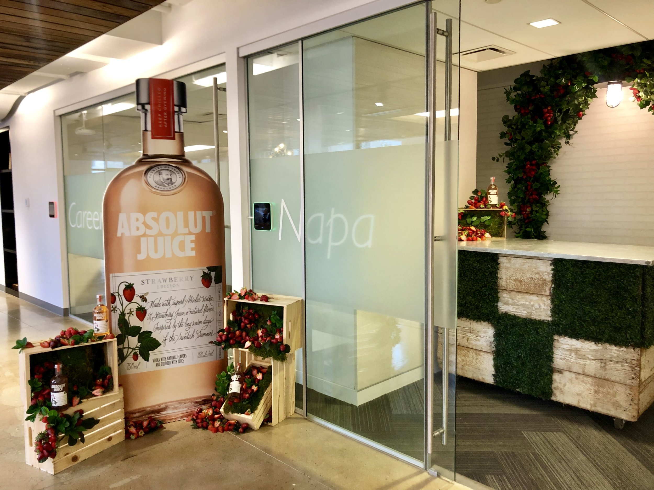 Absolut Launch Install and Bar- B Floral
