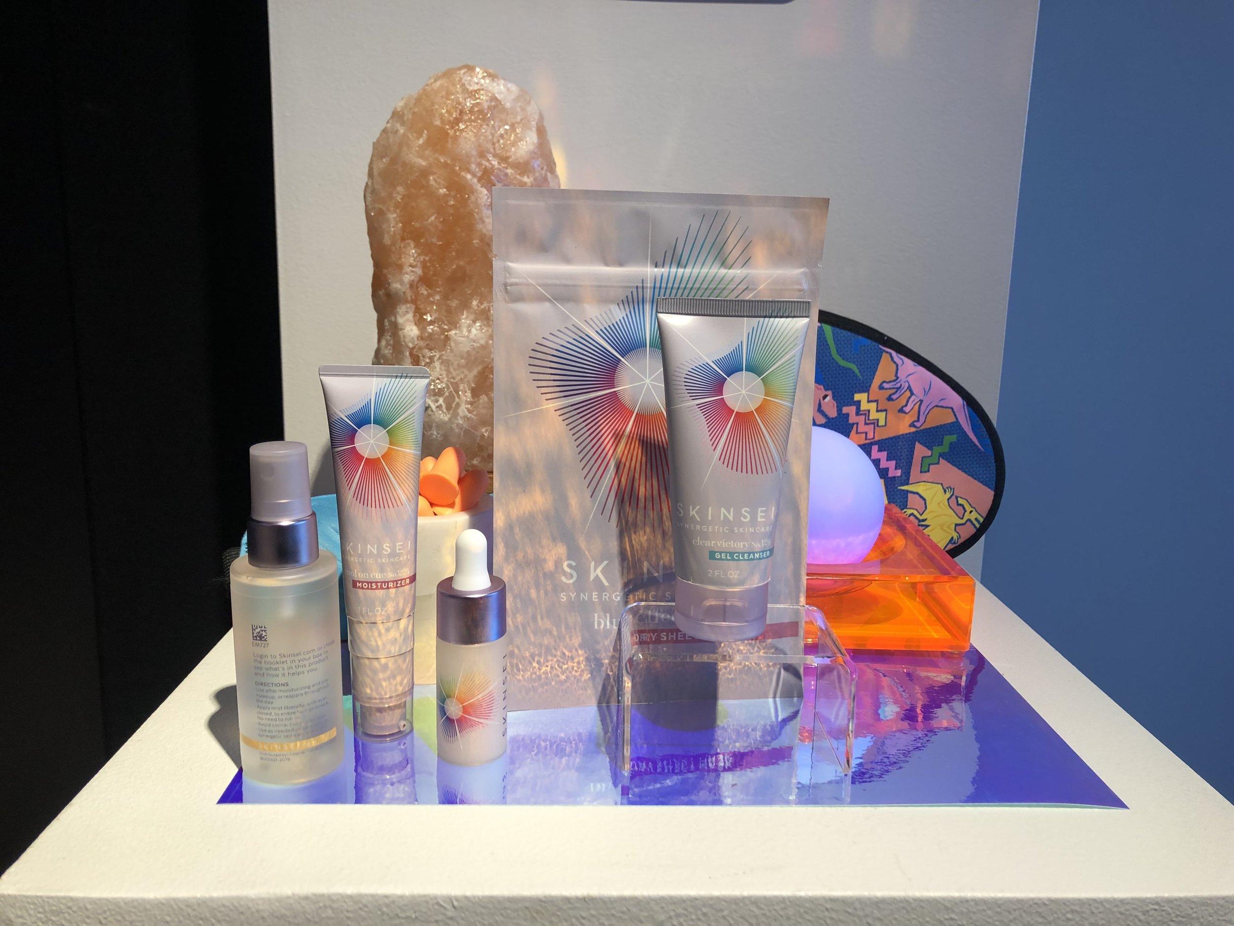 Skinsei Pink Salt Product Display- B Floral
