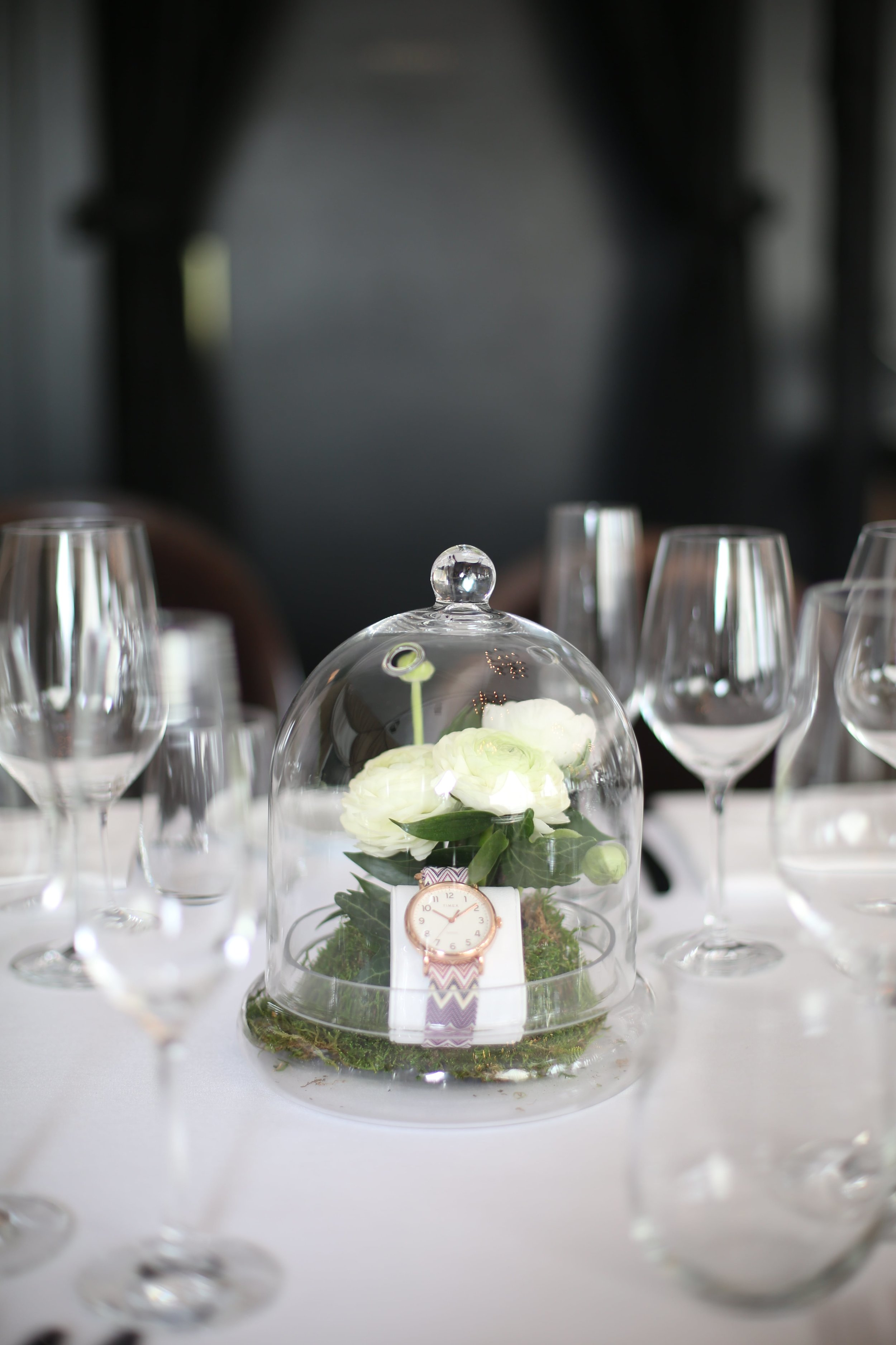 TIMEX Product Displays on Tablescape- B Floral