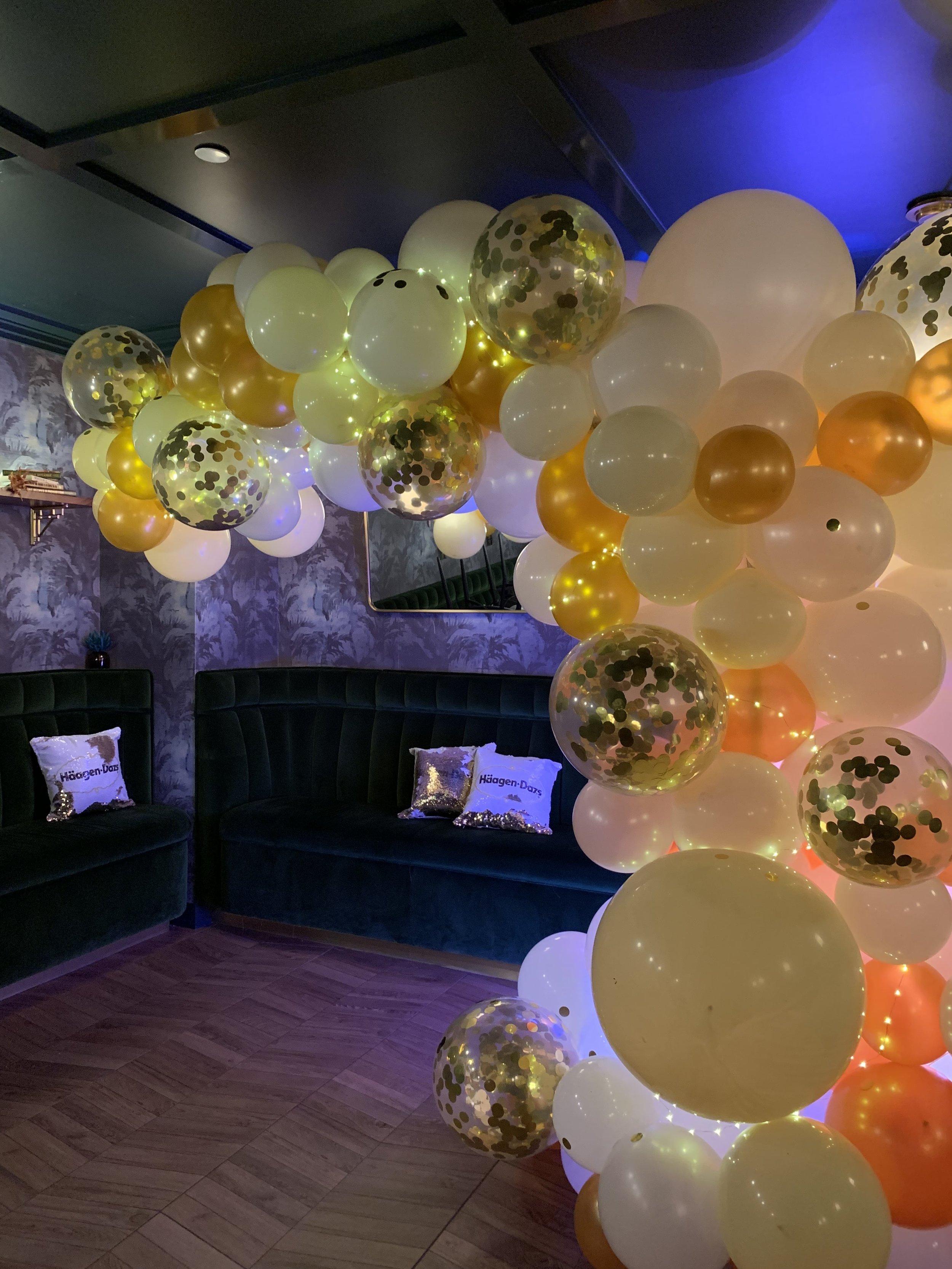 Haagen Dazs Balloon Installation- B Floral