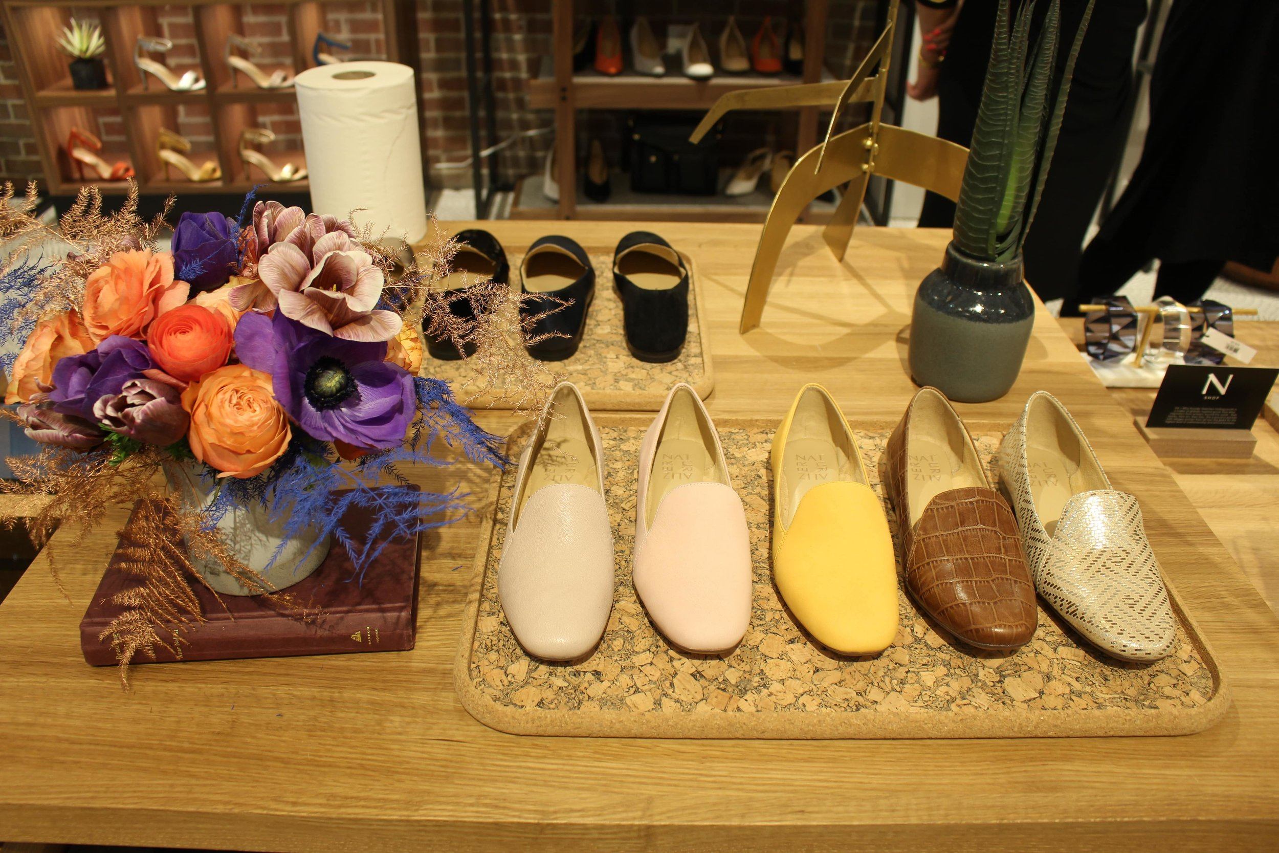 Naturalizer Shoe Display With Arrangement - B Floral