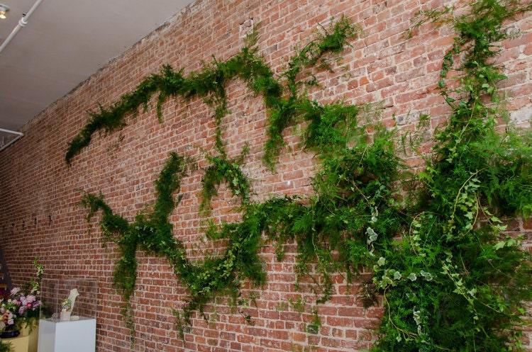 After Brick Greenery Wall - B Floral