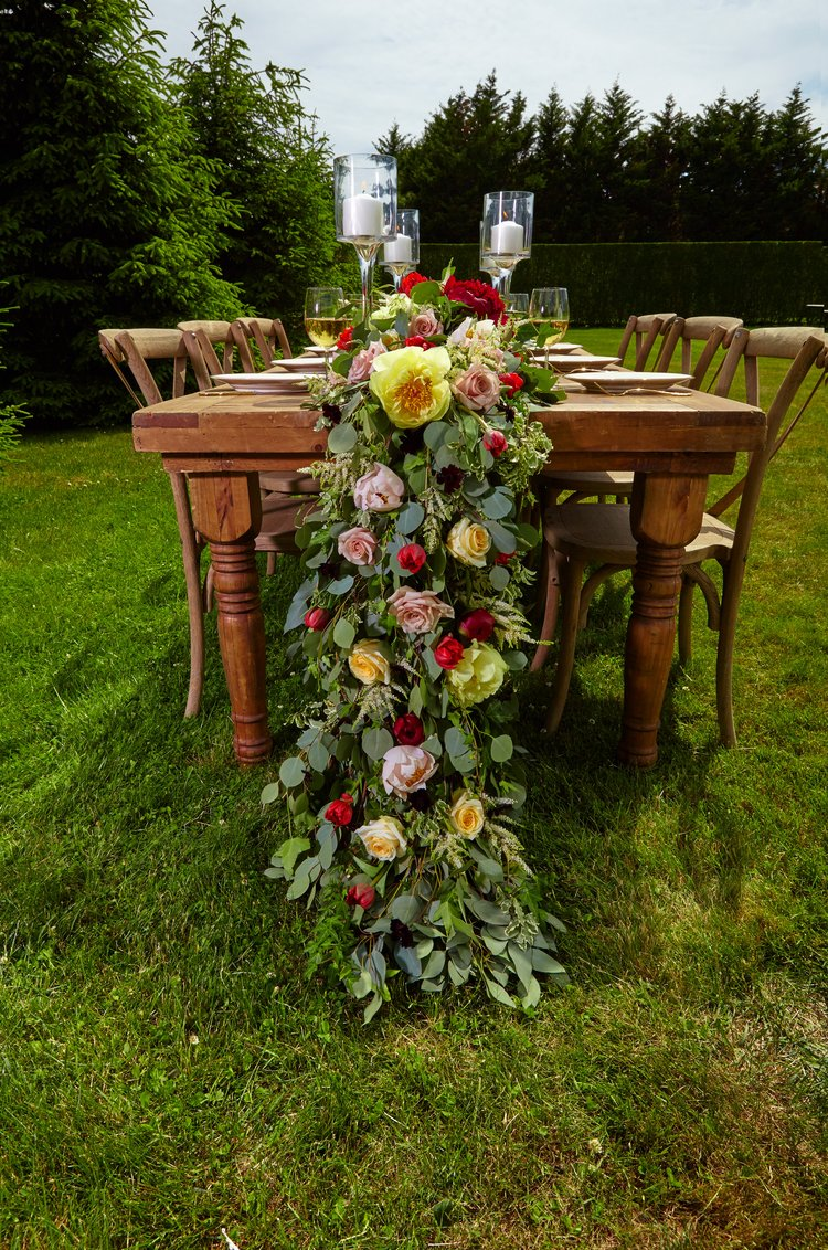 Cascading Floral and Greenery Tablescape - B Flora