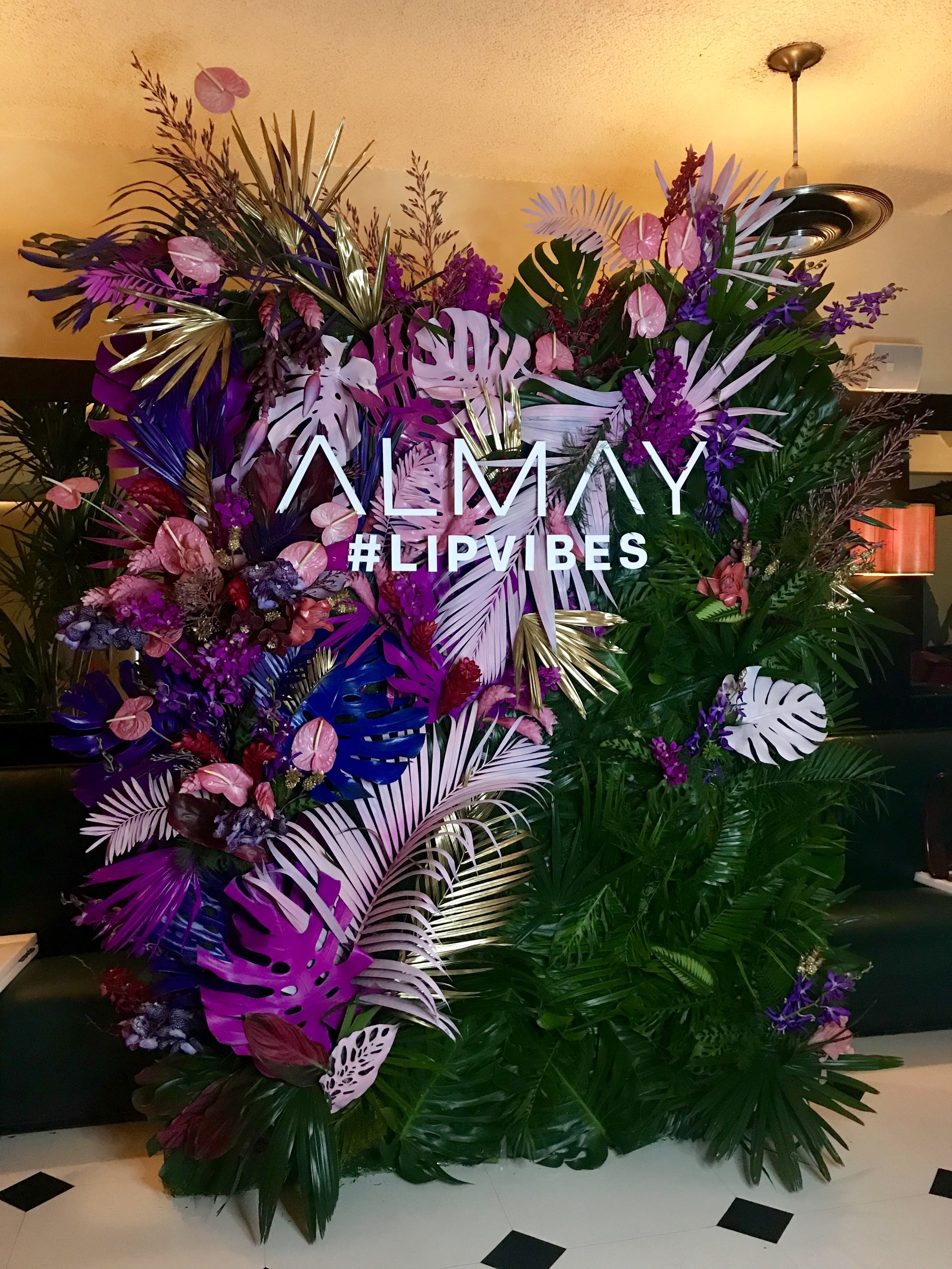Almay Lip Vibes Launch Flower Wall - B Floral