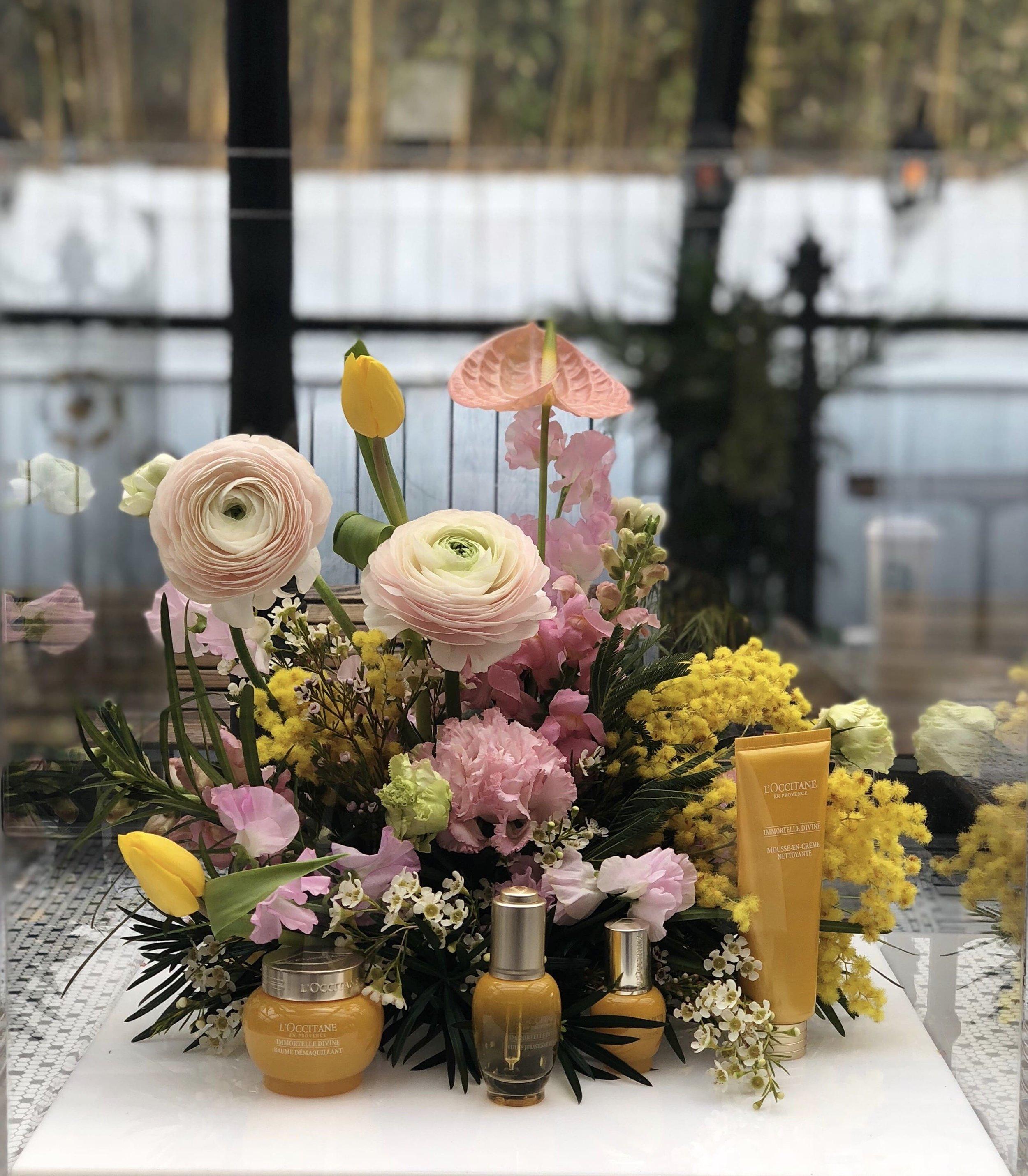 L'Occitane Product Display - B Floral