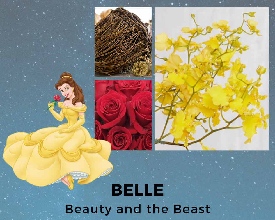 BELLE - BEAUTY AND THE BEAST - DISNEY - FLOWERS - B FLORAL