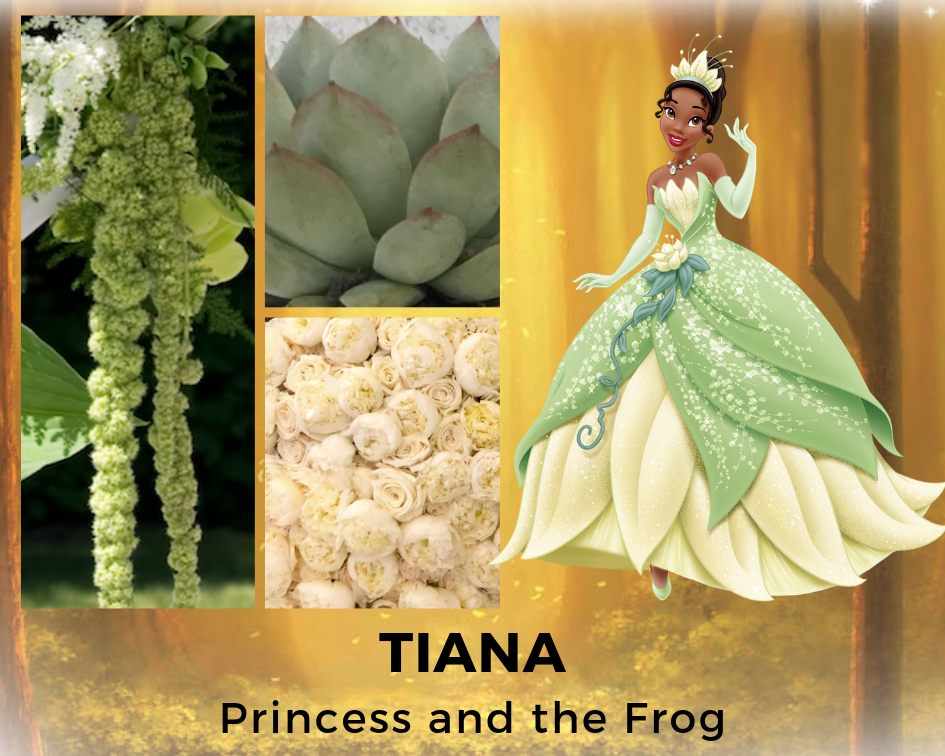 TIANA - PRINCESS AND THE FROG - DISNEY - FLOWERS - B FLORAL
