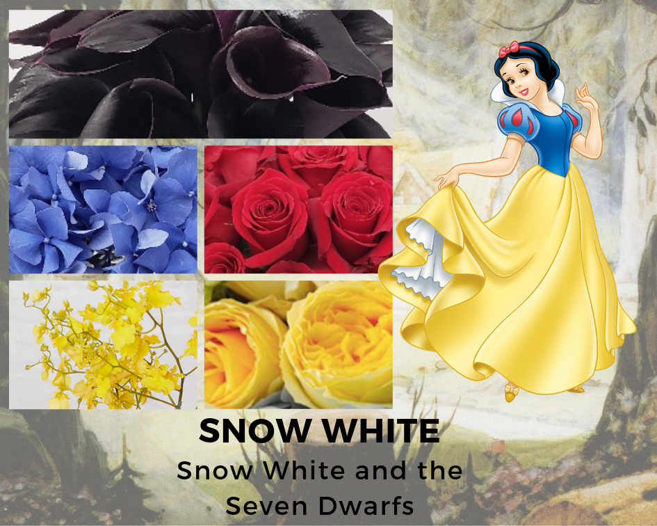 SNOW WHITE - SNOW WHITE AND THE SEVEN DWARFS - DISNEY - FLOWERS - B FLORAL