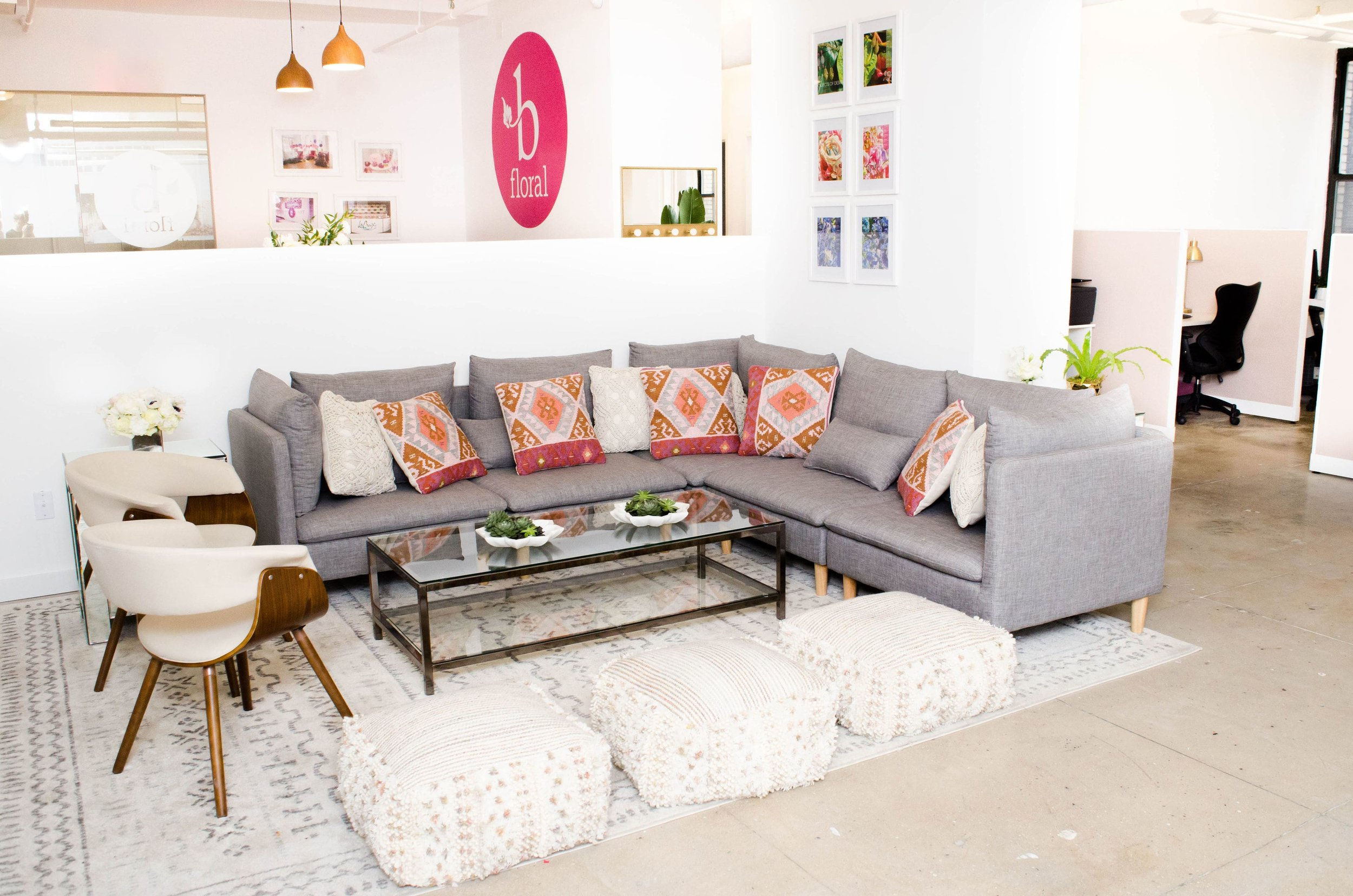 NEW - OFFICE - SPACE - MANHATTAN - COOL - OPEN - TEAM LOUNGE - B FLORAL