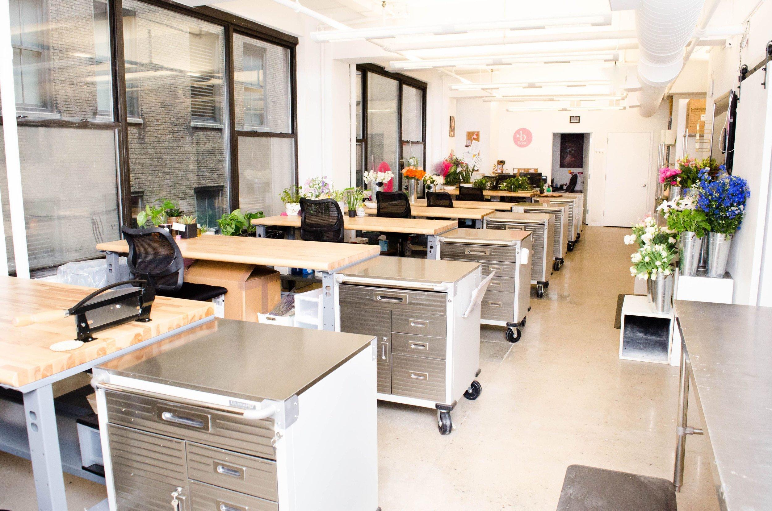 NEW - OFFICE - SPACE - MANHATTAN - COOL - OPEN - DESIGN - STUDIO - B FLORAL