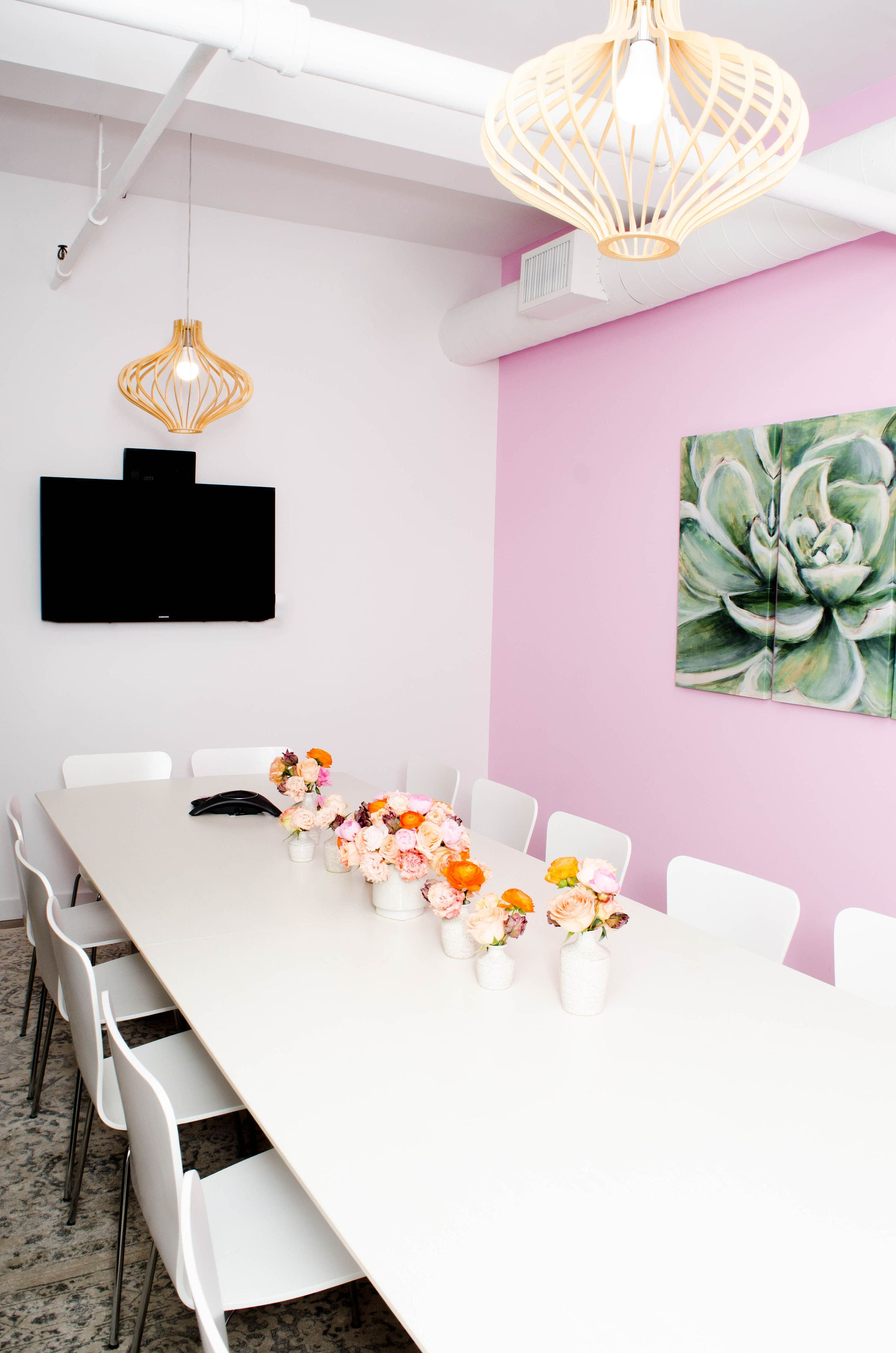 NEW - OFFICE - SPACE - MANHATTAN - COOL - OPEN - CONFERENCE ROOM - SUCCULENT - B FLORAL