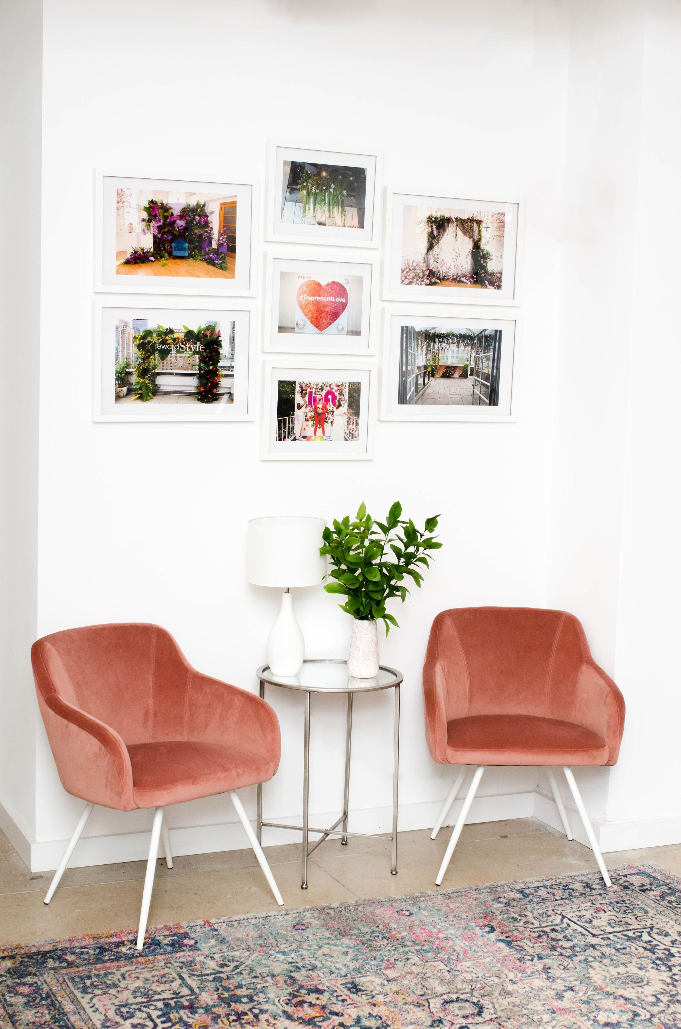 NEW - OFFICE - SPACE - MANHATTAN - COOL - OPEN - RECEPTION - CHAIRS - B FLORAL
