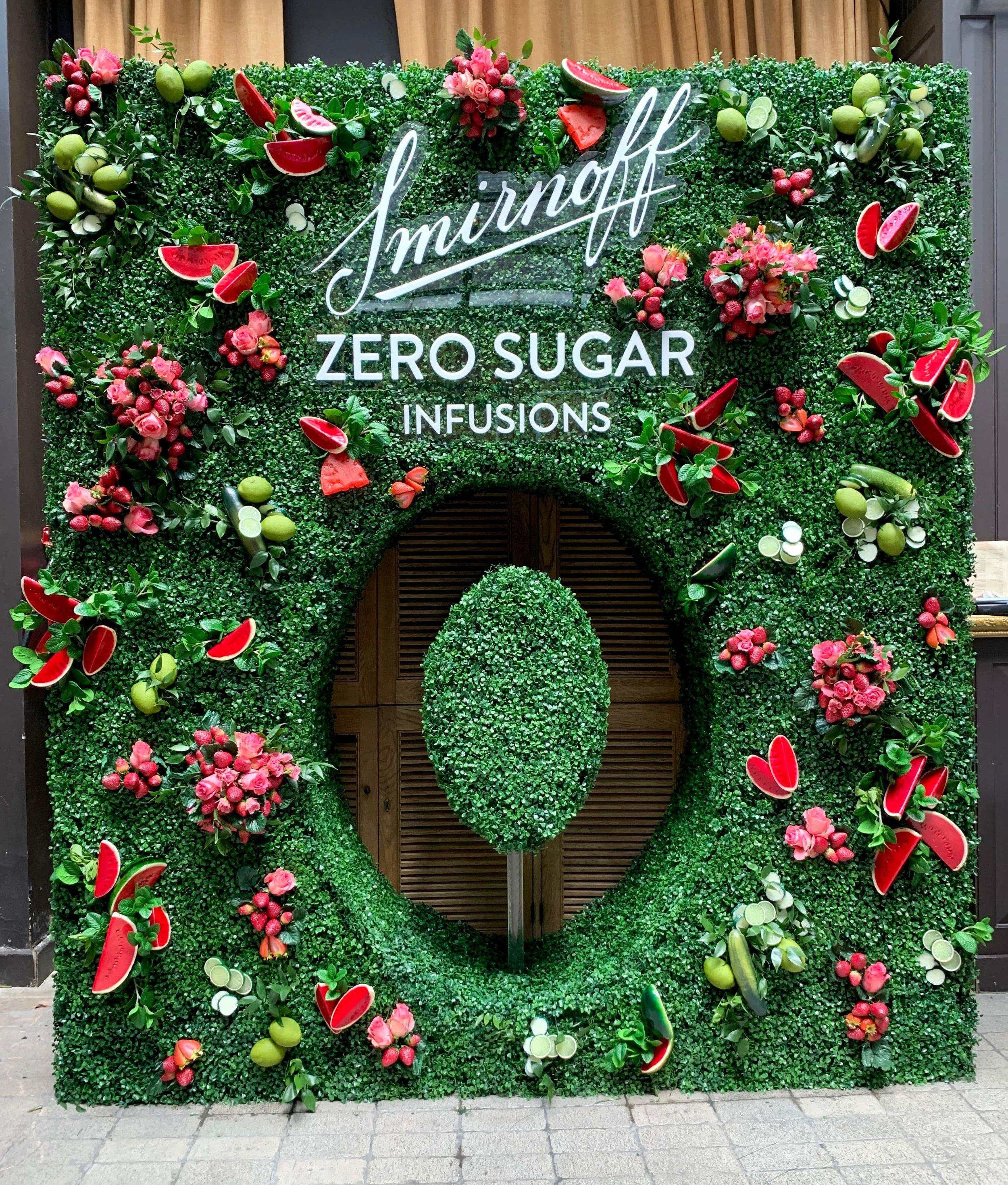 Smirnoff Zero Sugar Flower Wall