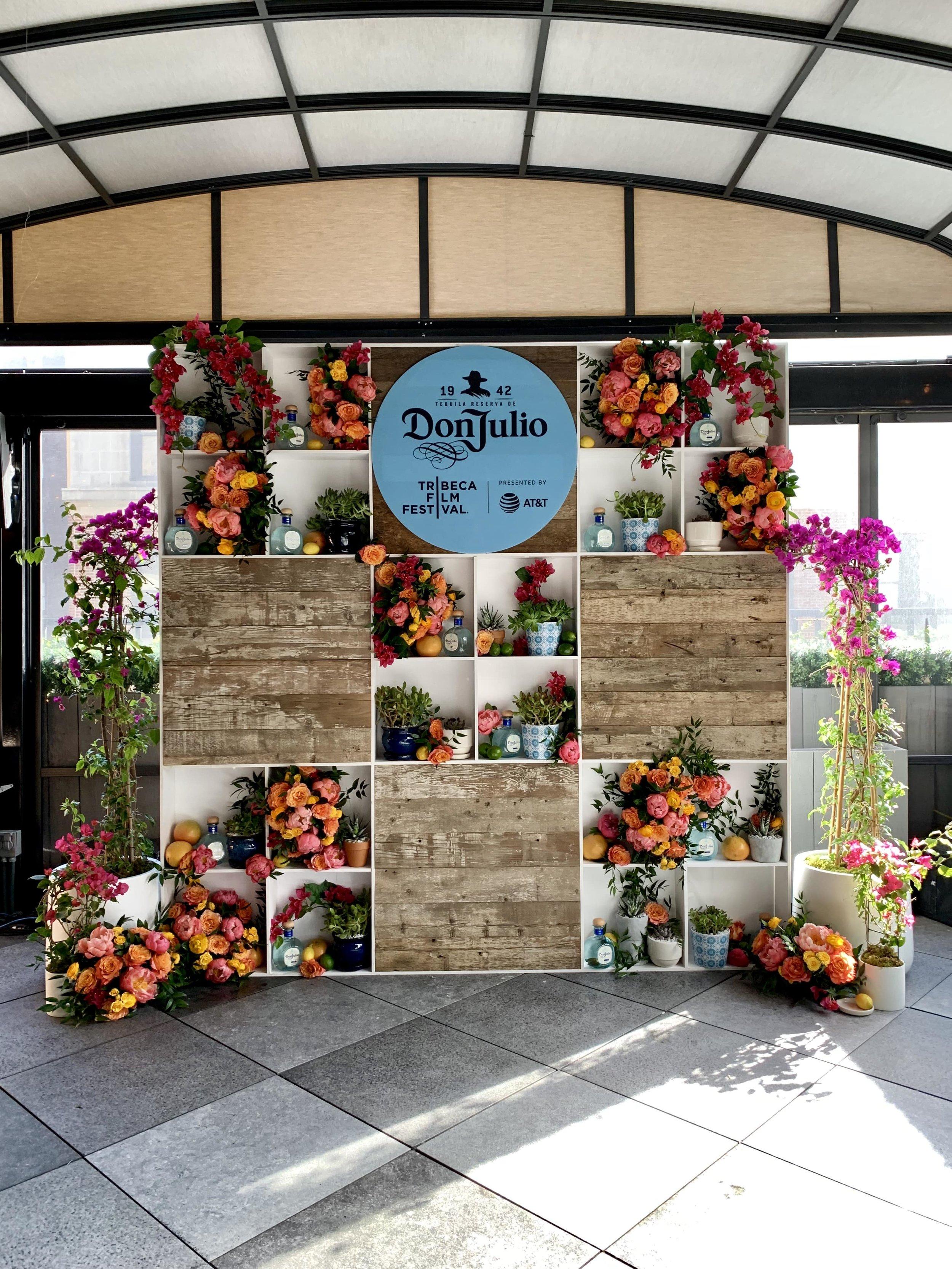 Don Julio Statement Flower Wall