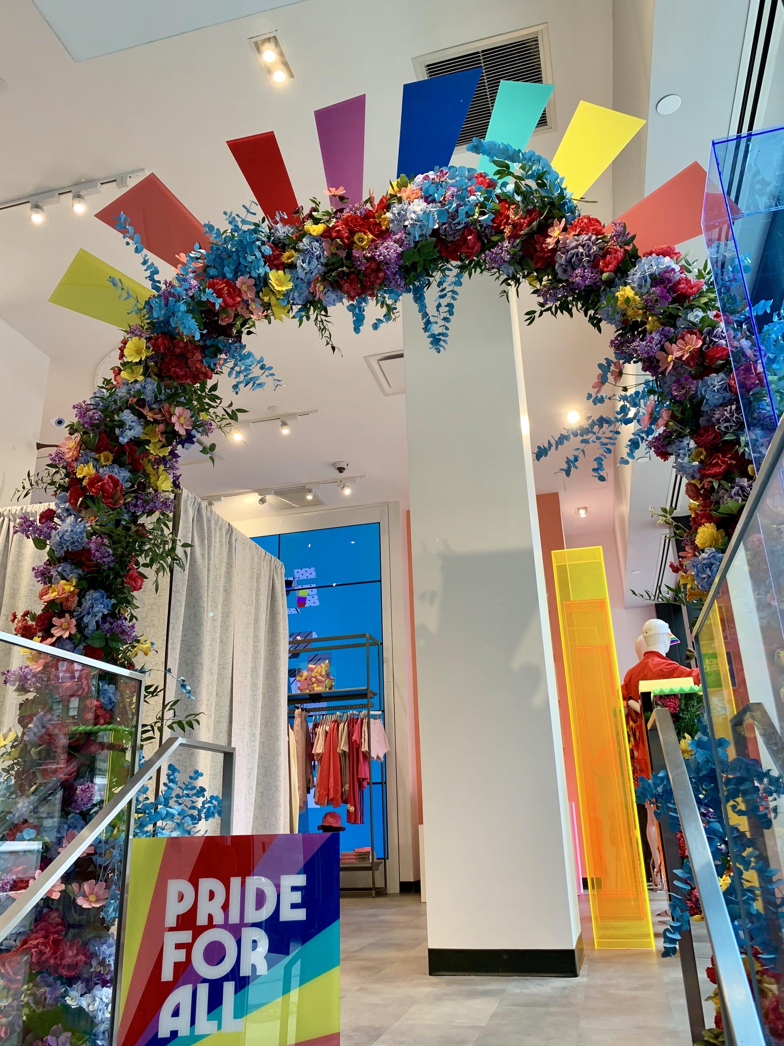 Bloomingdale's Custom Floral Arch