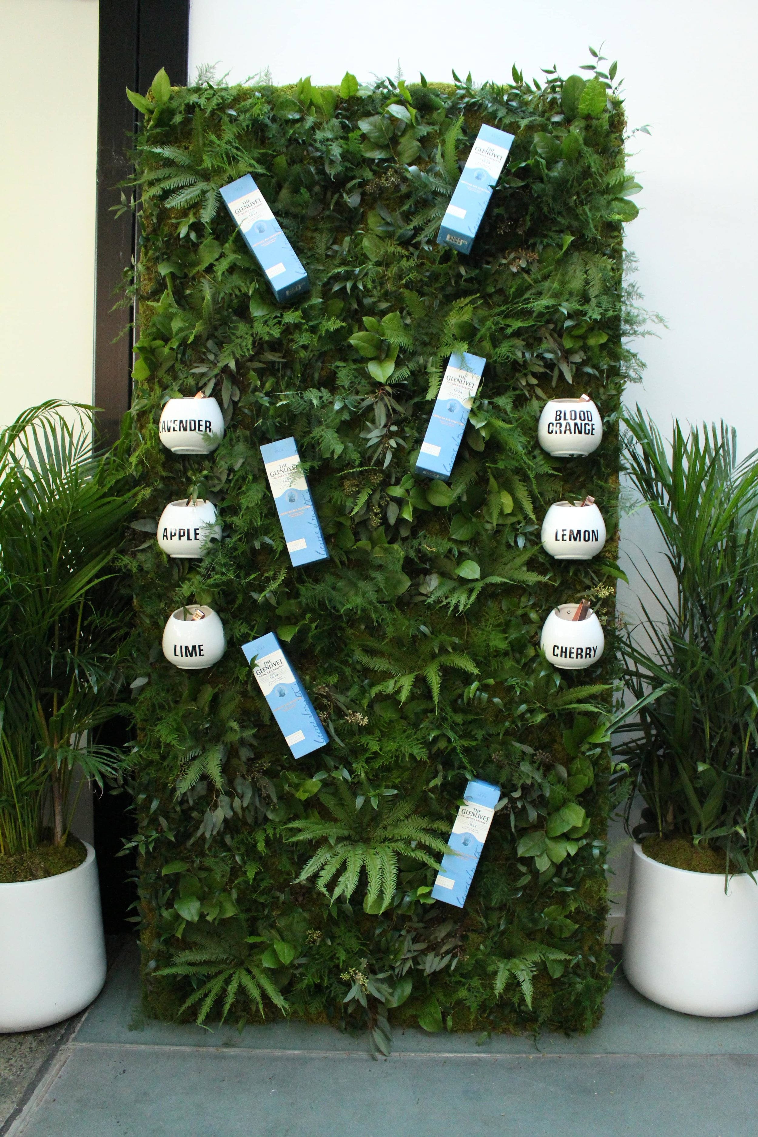 The Glenvilet Product Greenery Wall
