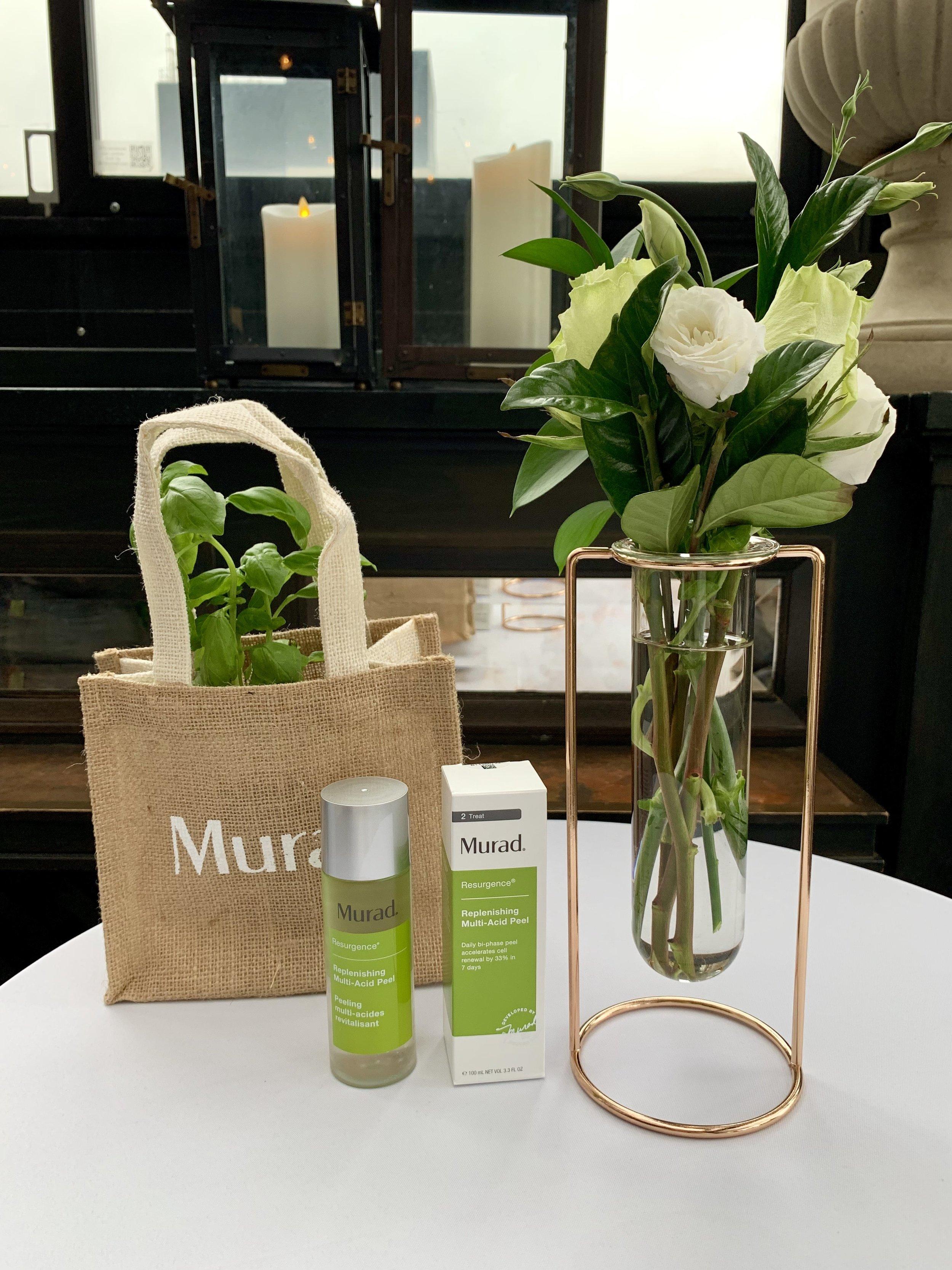 Murad Skincare Product Display