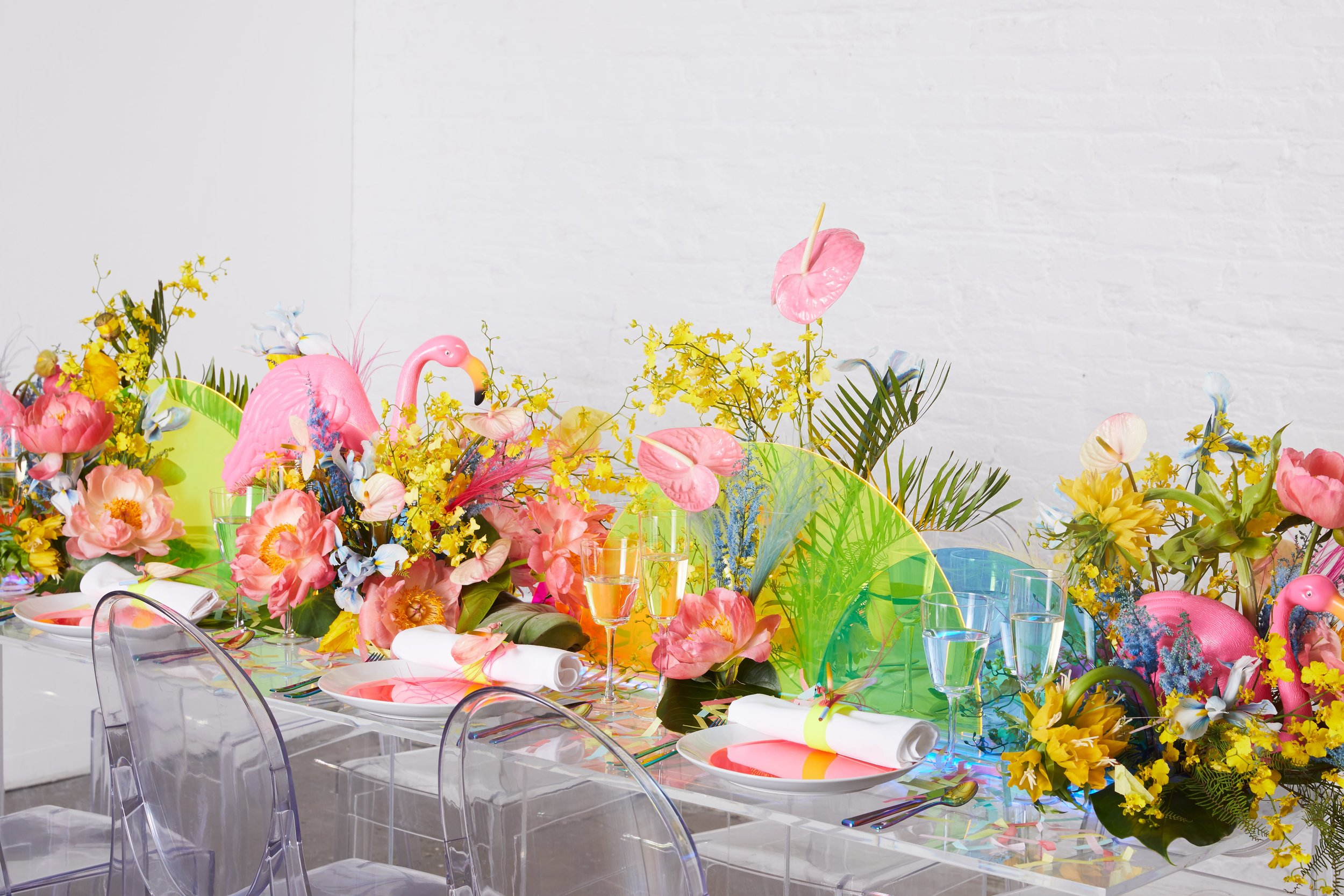 B Floral Tropical Tablescape