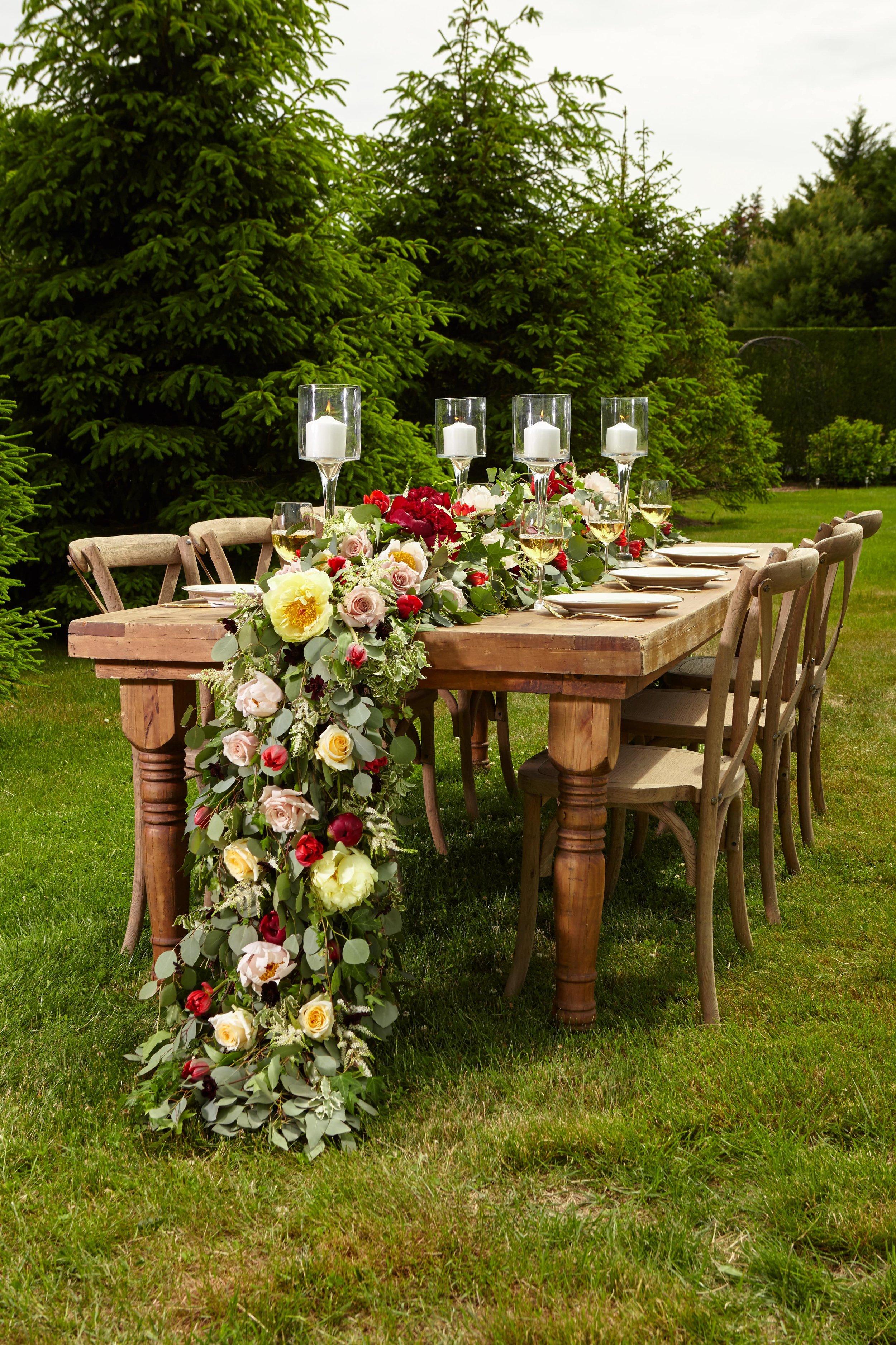 B Floral Cascading Tablescape