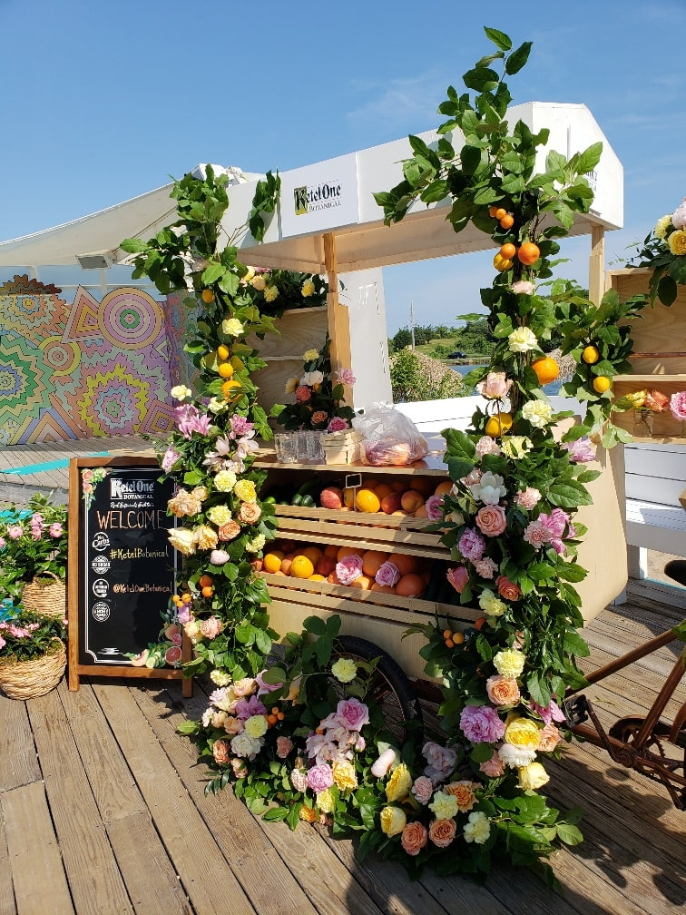 Ketel One Floral Bar Cart