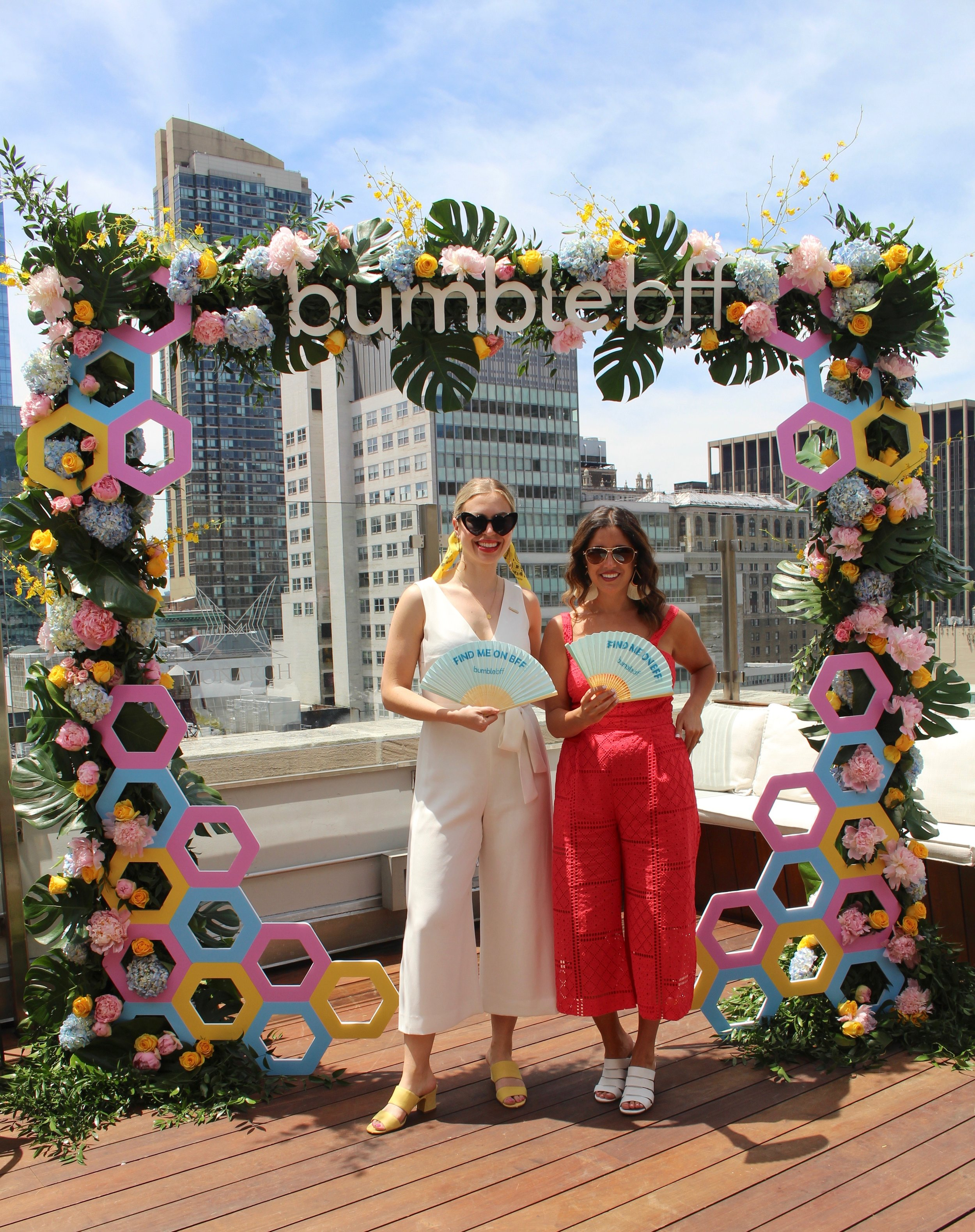 Bumble BFF Flower Arch
