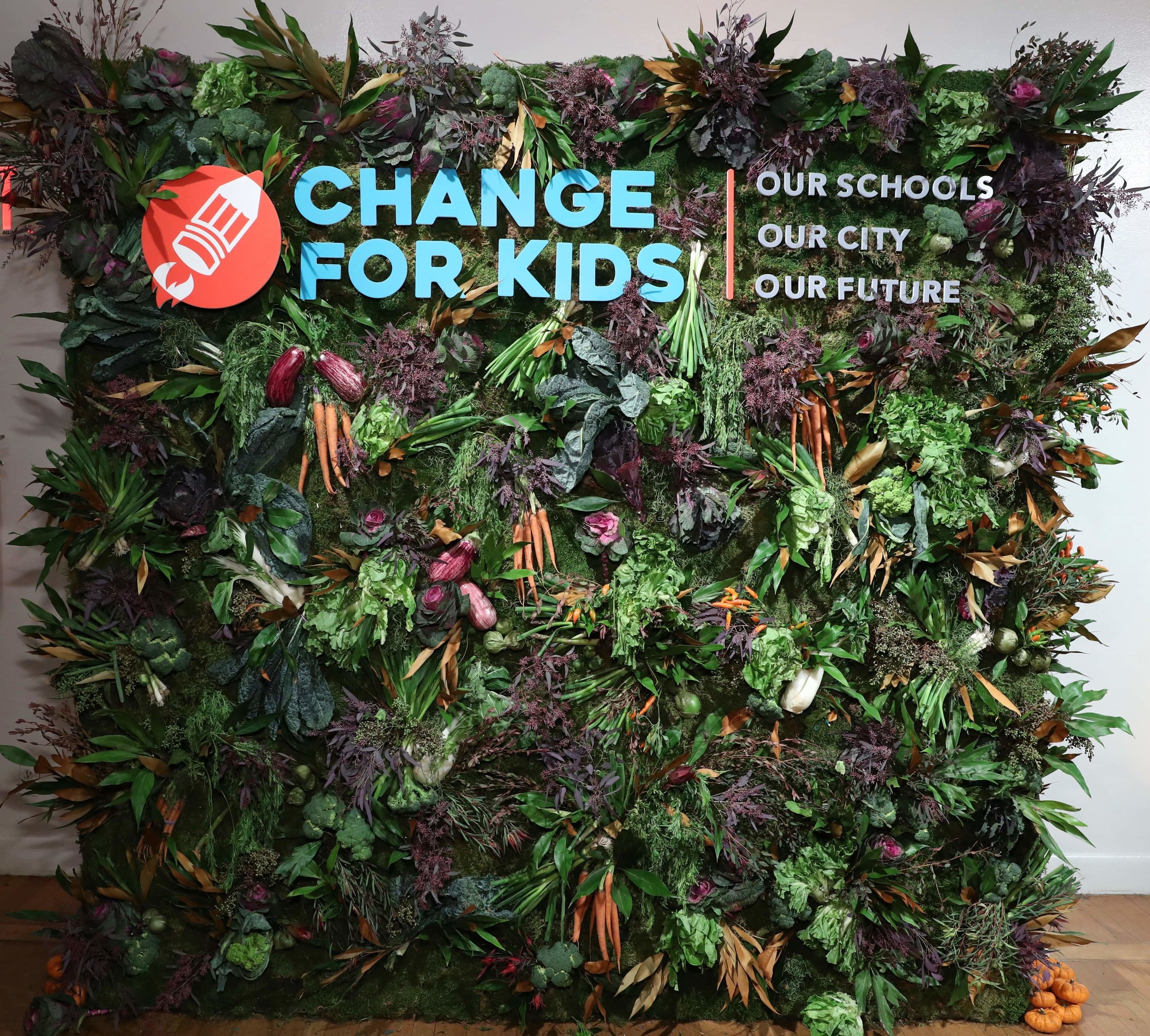Change for Kids Veggie Wall