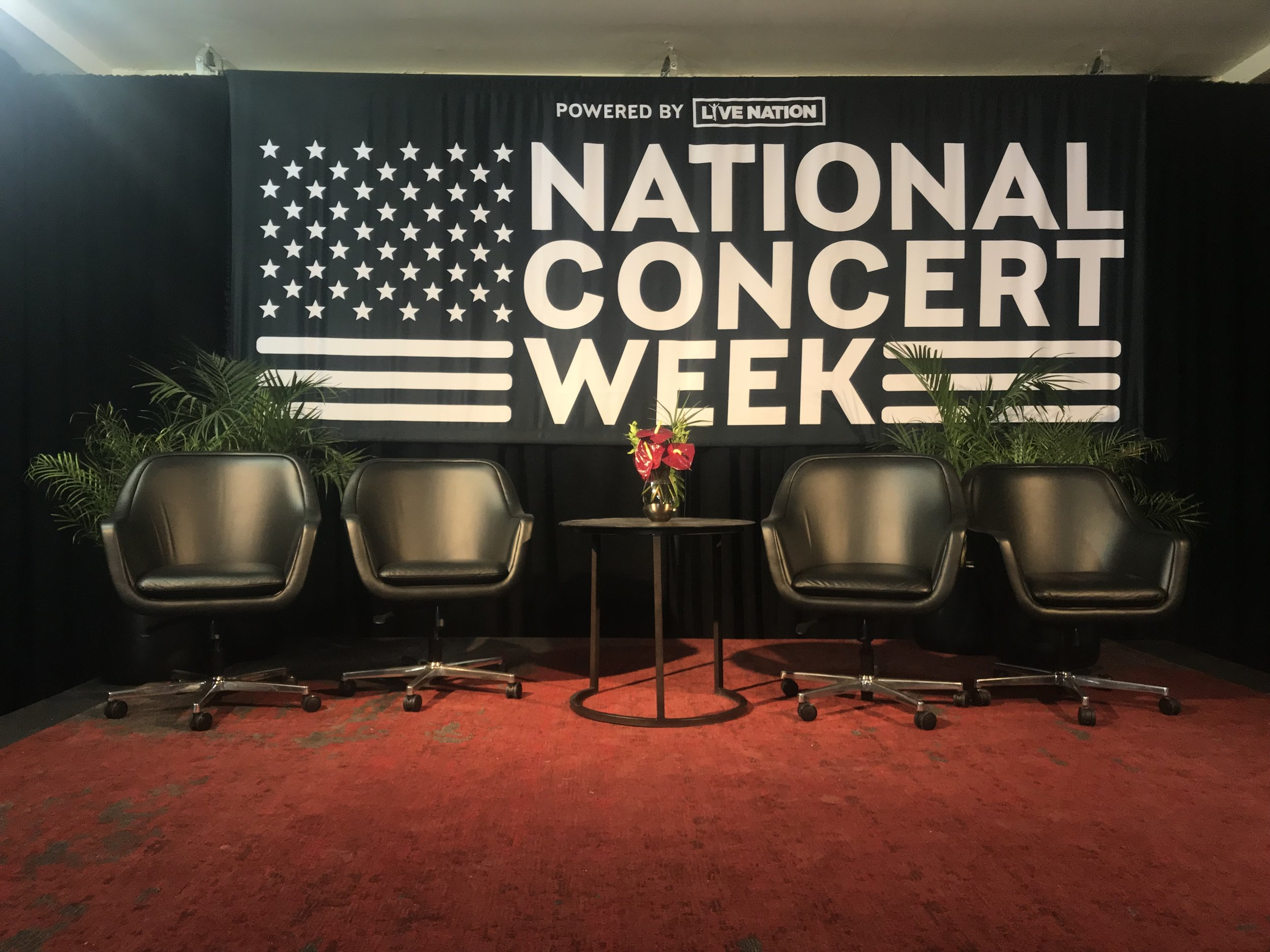 LIVE NATION - NATIONAL CONCERT WEEK - STAGE DESIGN