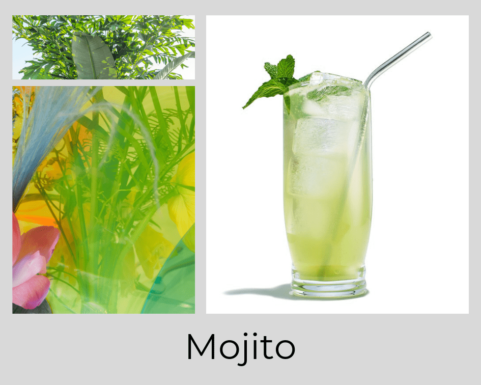 MOJITO - COCKTAIL - DRINK - FLOWERS