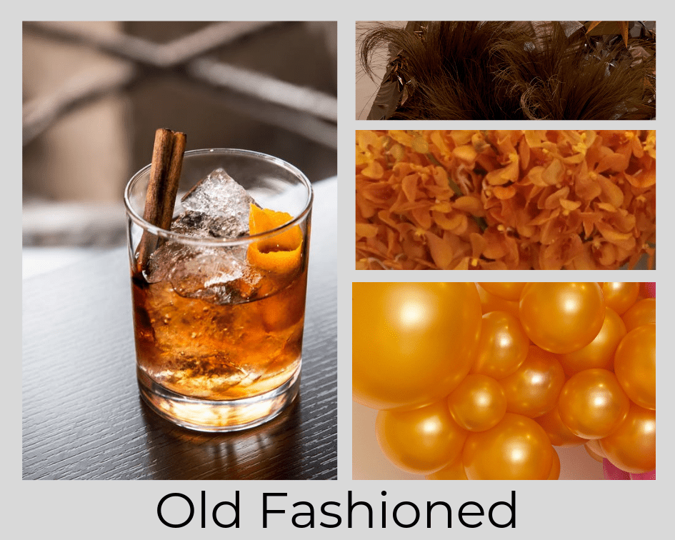 OLD FASHIONED - DRINK - COCKTAIL - FLOWERS