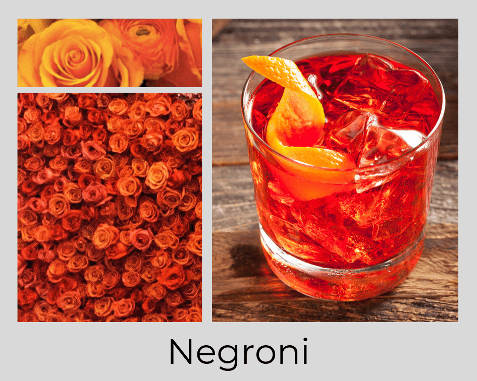 NEGRONI - DRINK - COCKTAIL - FLOWERS