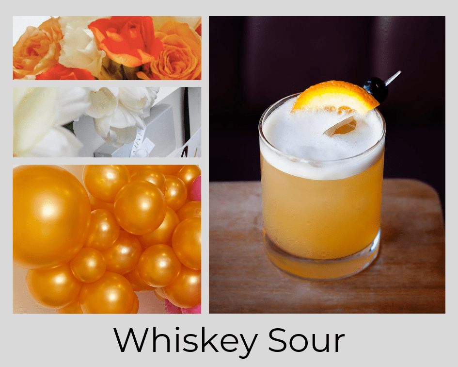WHISKEY SOUR - DRINK - COCKTAIL - FLOWERS