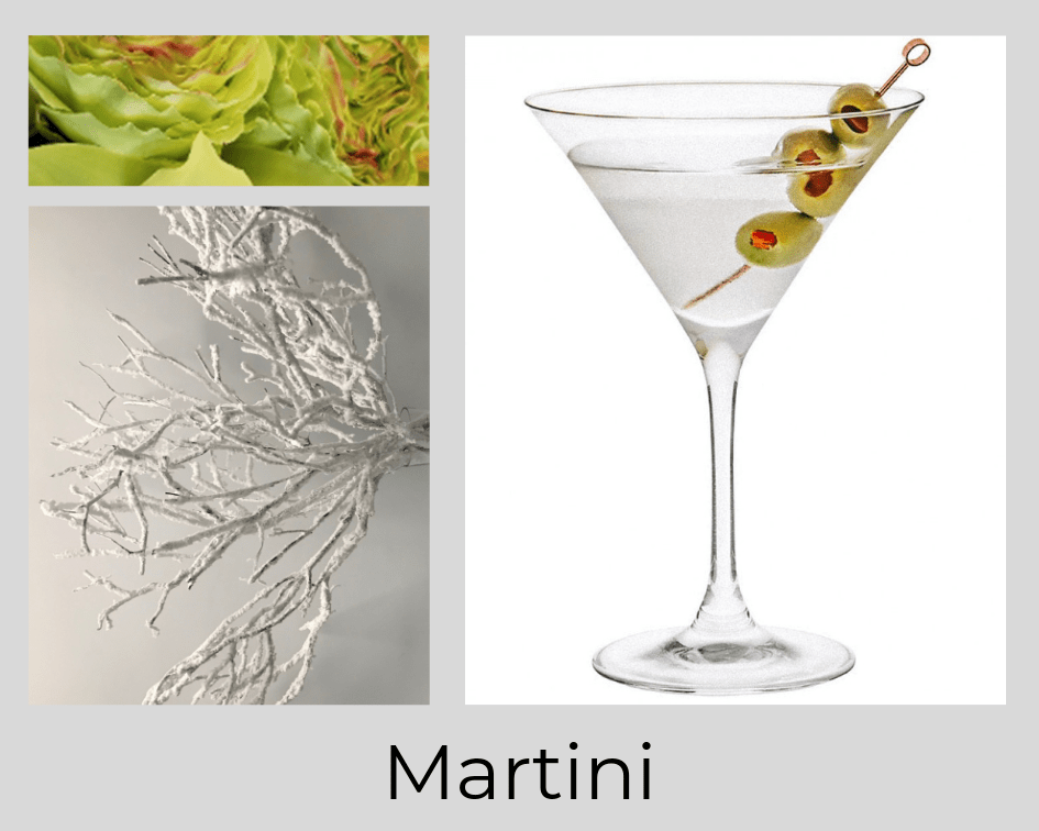 MARTINI - COCKTAIL - DRINK - FLOWERS