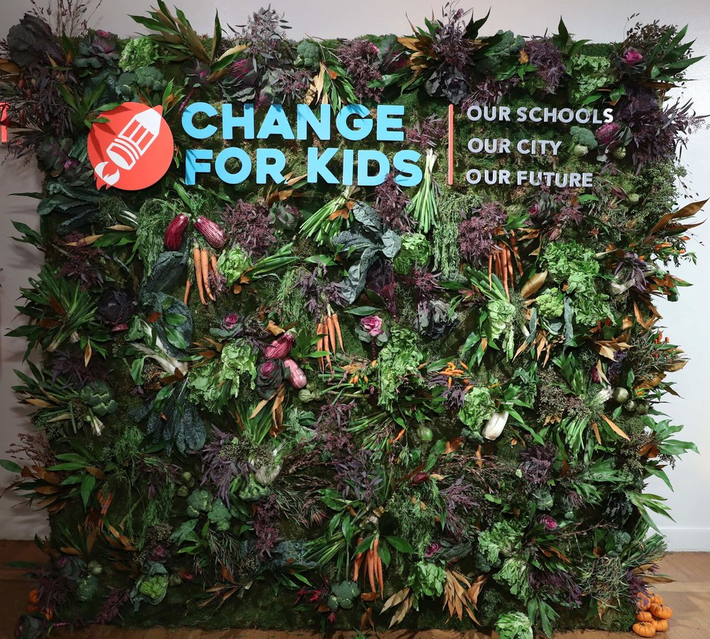 Change for Kids Vegetable Wall
