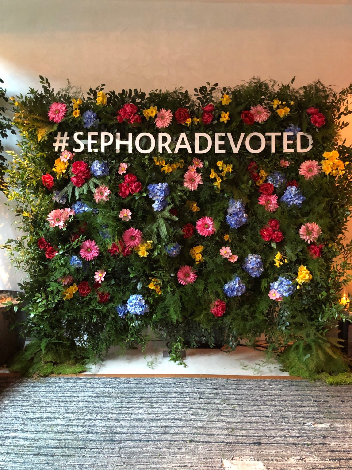 Sephora Flower Wall