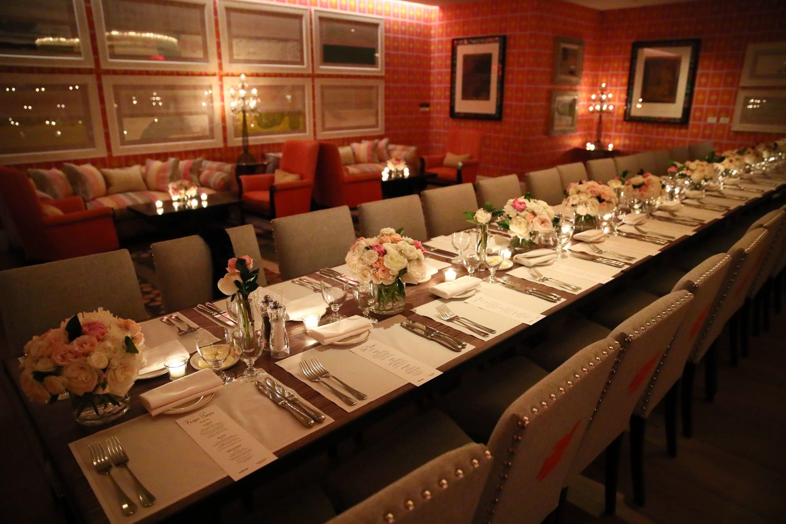 Crosby Street Hotel Dinner Reception