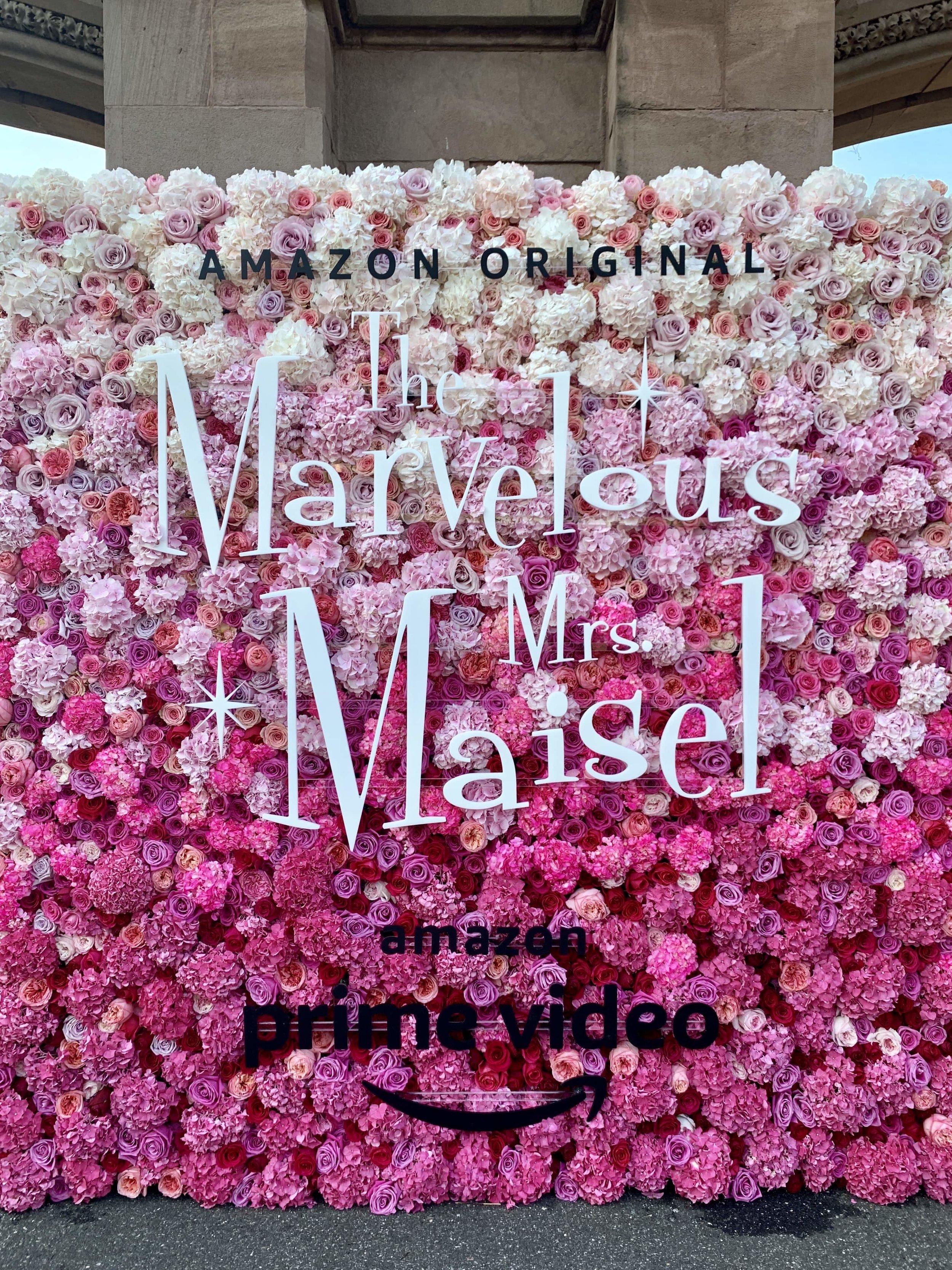 The Marvelous Mrs. Maisel Flower Wall
