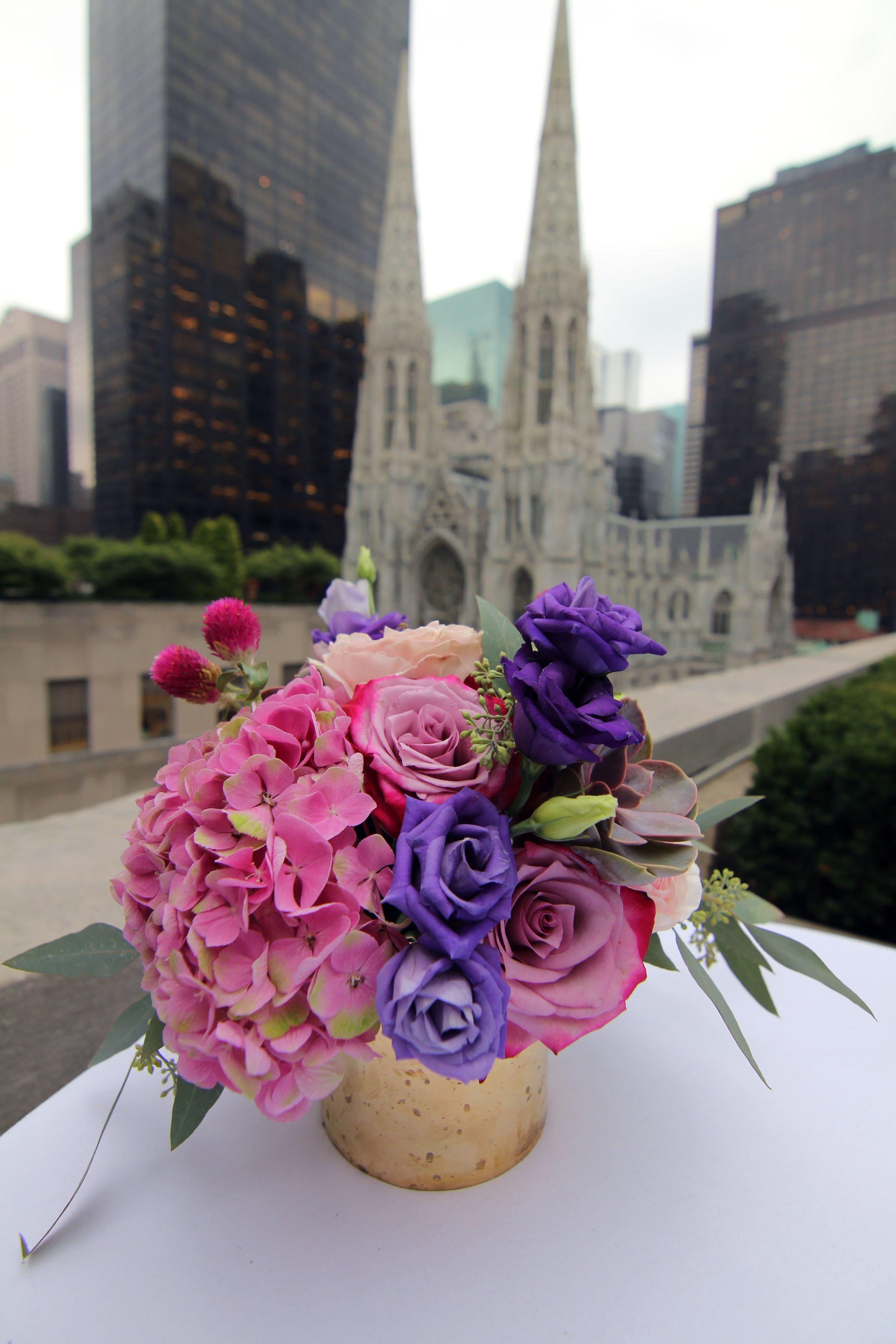 Colorful Wedding Cocktail Arrangement