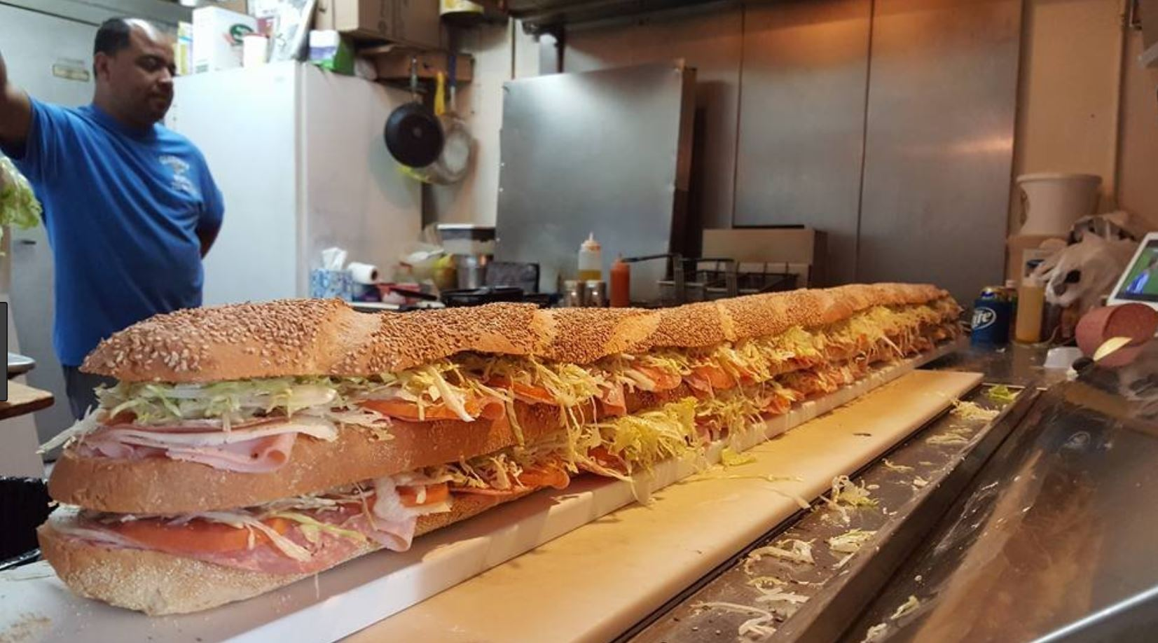Six Foot Sub by Gianni's Pizzeria, 1504 Roosevelt Ave, Carteret, NJ 07008. Click the pic to visit YELP.