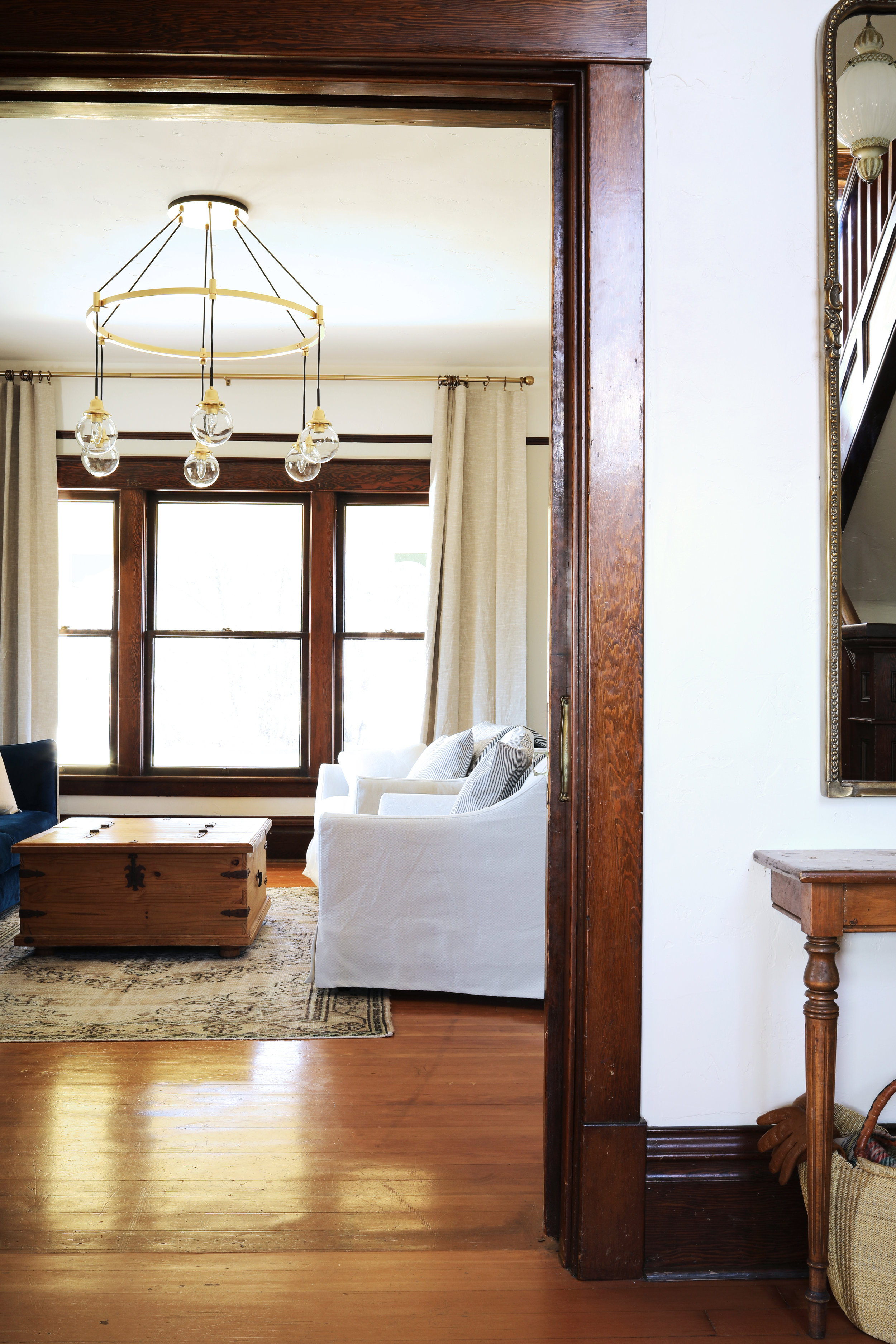 The Grit and Polish - Farmhouse Living Room From Entry.jpg